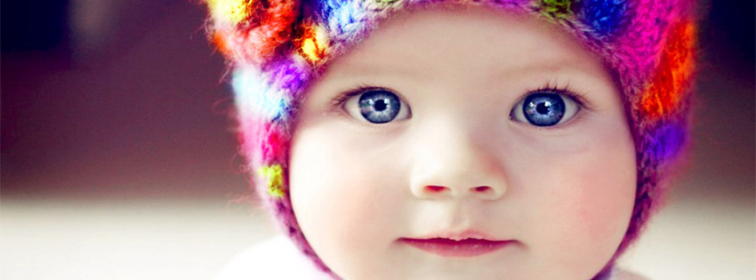 Cute Baby with Blue Eye Facebook Cover Photo