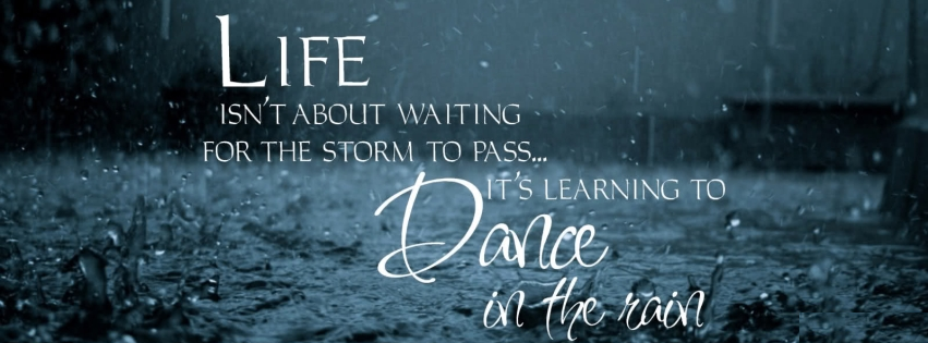 Facebook Cover Photo Thought on Life and Dance Photo