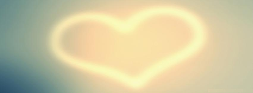 Facebook Cover Plain Heart