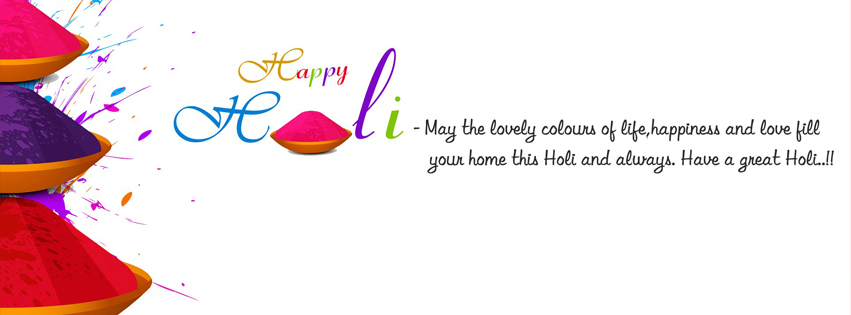 Happy Holi Facebook Cover Photo