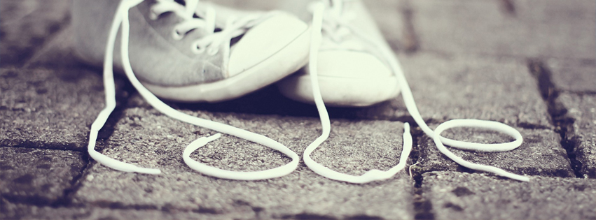 LOVE in Shoes Lace Facebook Cover Photo