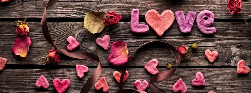 Love on Wooden FB Cover Photo