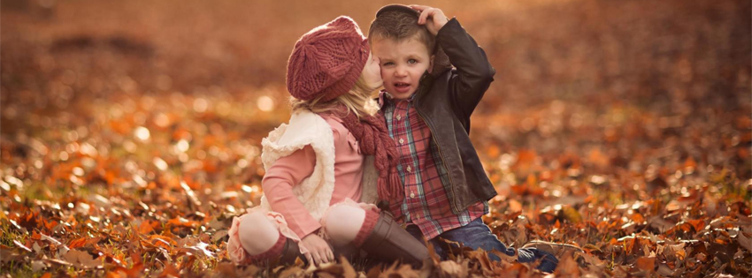 Romantic Cute Childs Facebook Cover Image