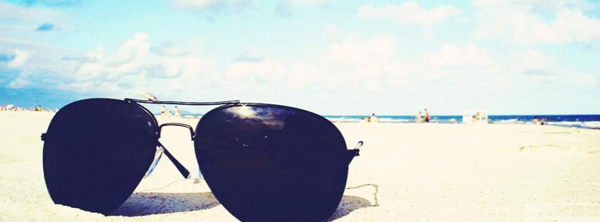Sunglasses on Beach FB Cover Image