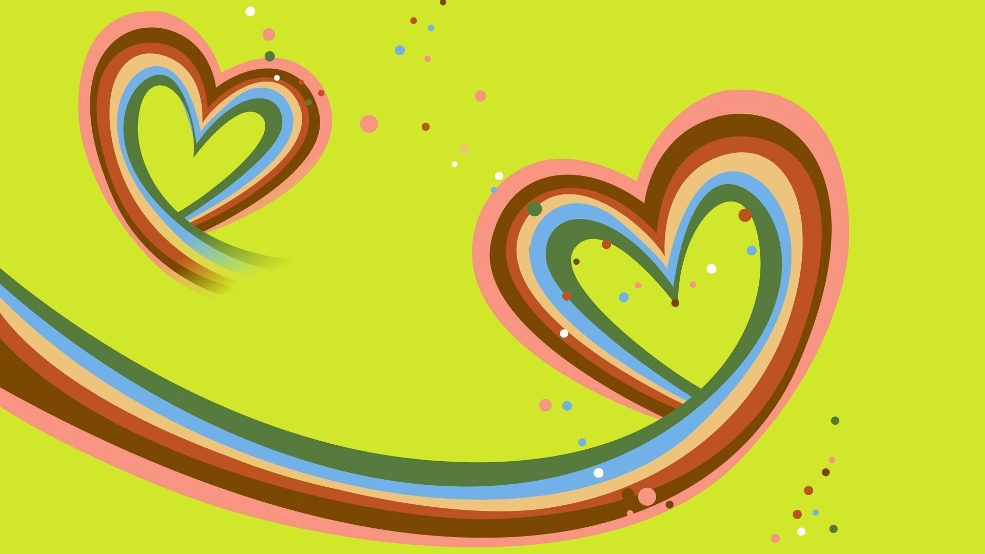 Colorful Heart Wallpaper DOWNLOAD