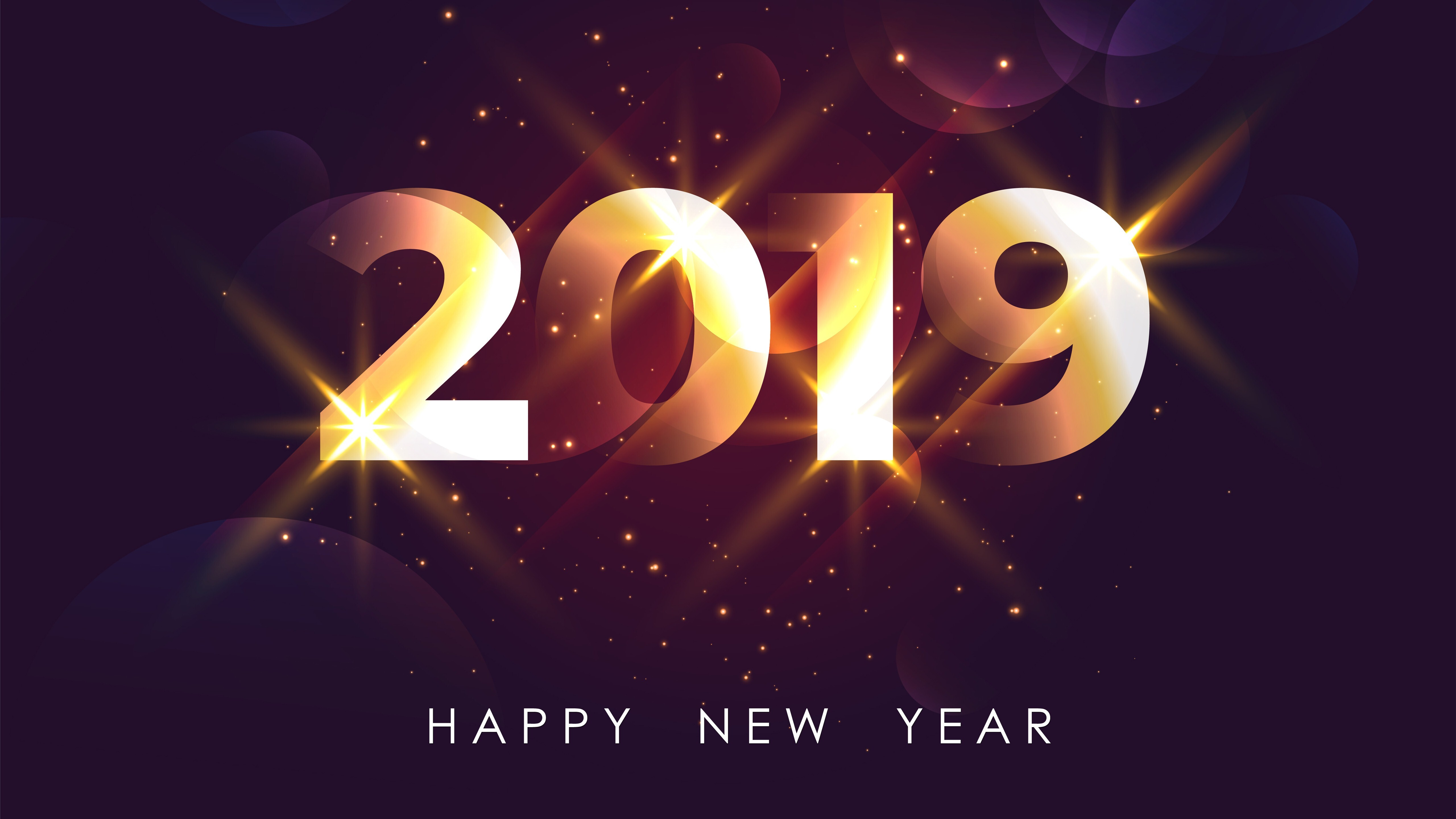 Happy New Year 2019 5K Wallpapers  HD Wallpapers