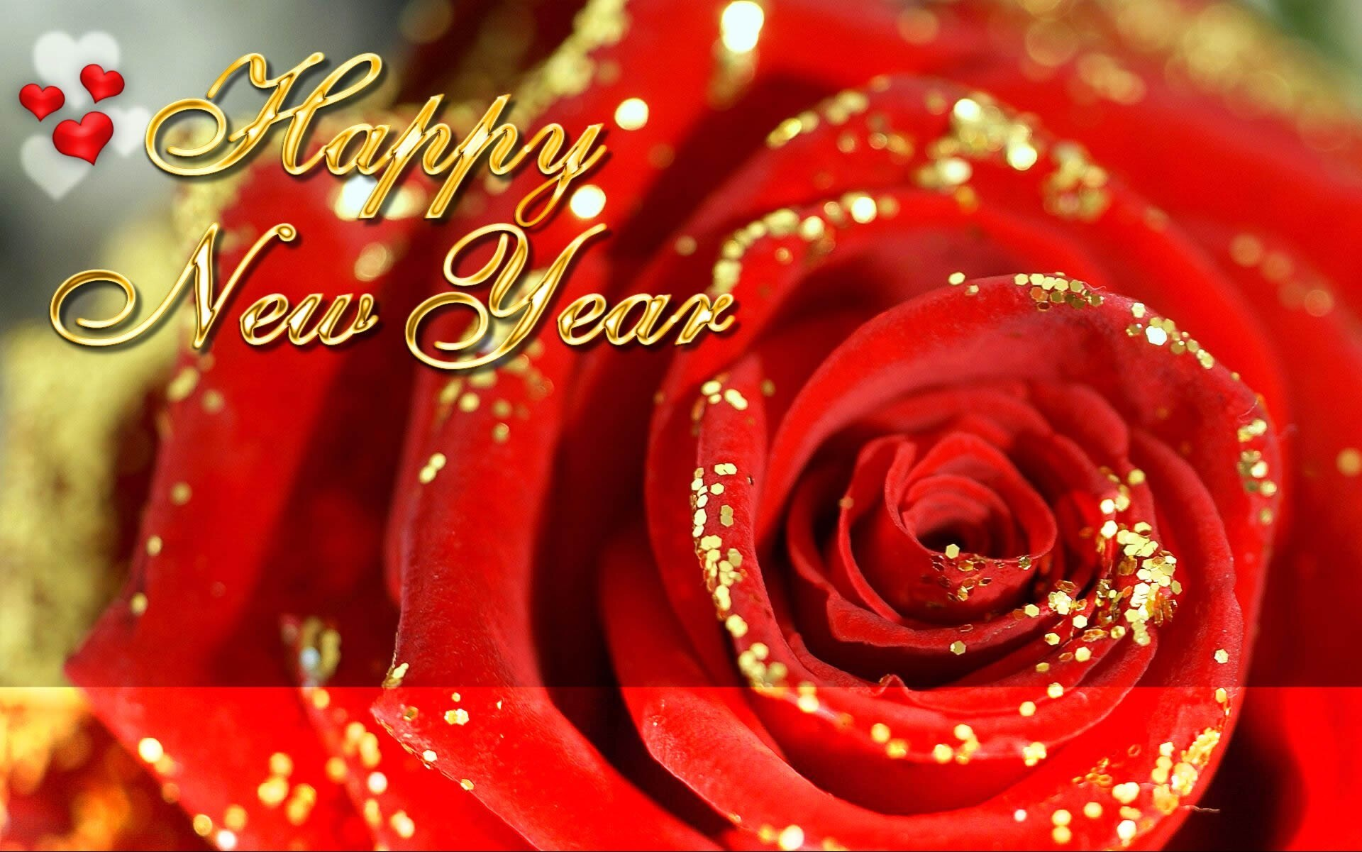 Happy New Year Rose Wallpaper Download