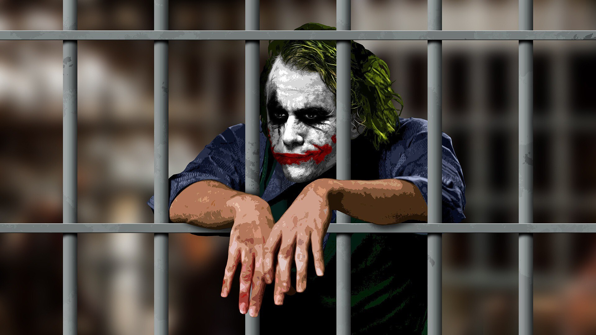 Joker In Jail Movie Scene Of Batman Hd Wallpapers Hd