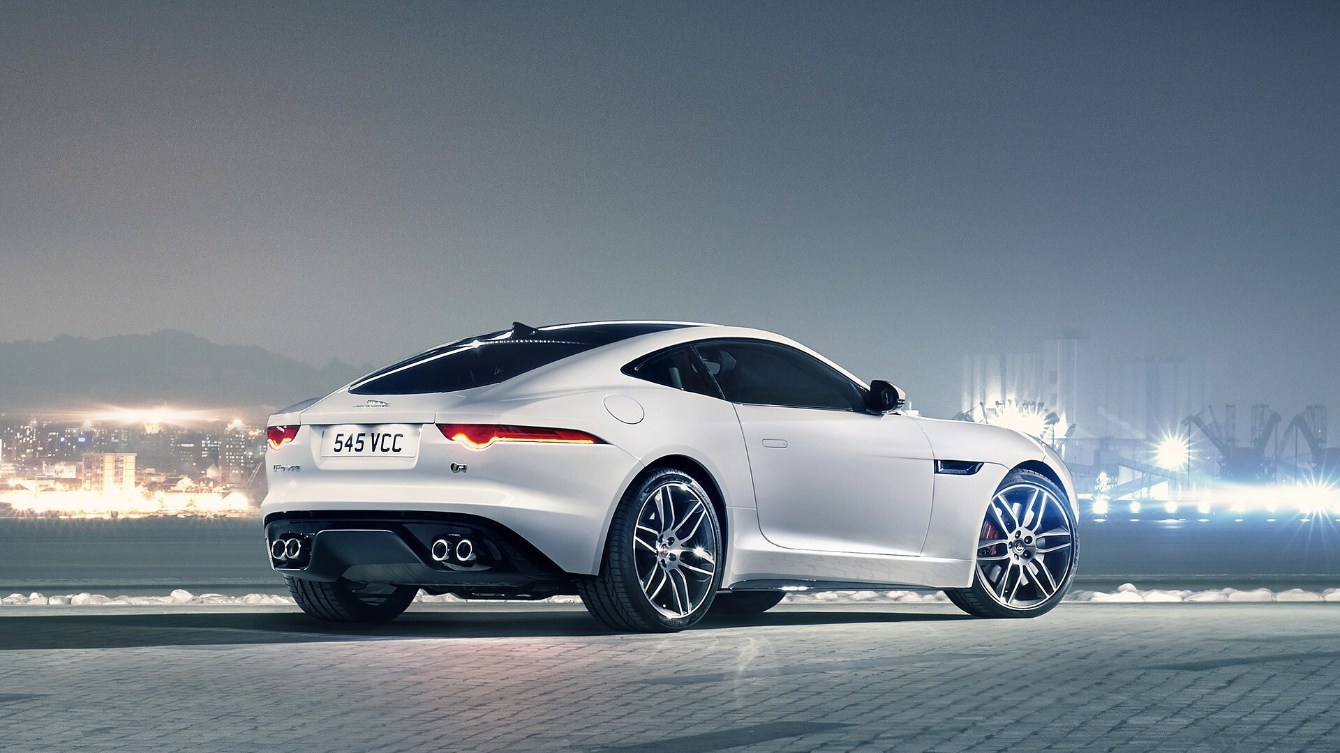 White Jaguar F Type Car Wallpaper Hd Wallpapers