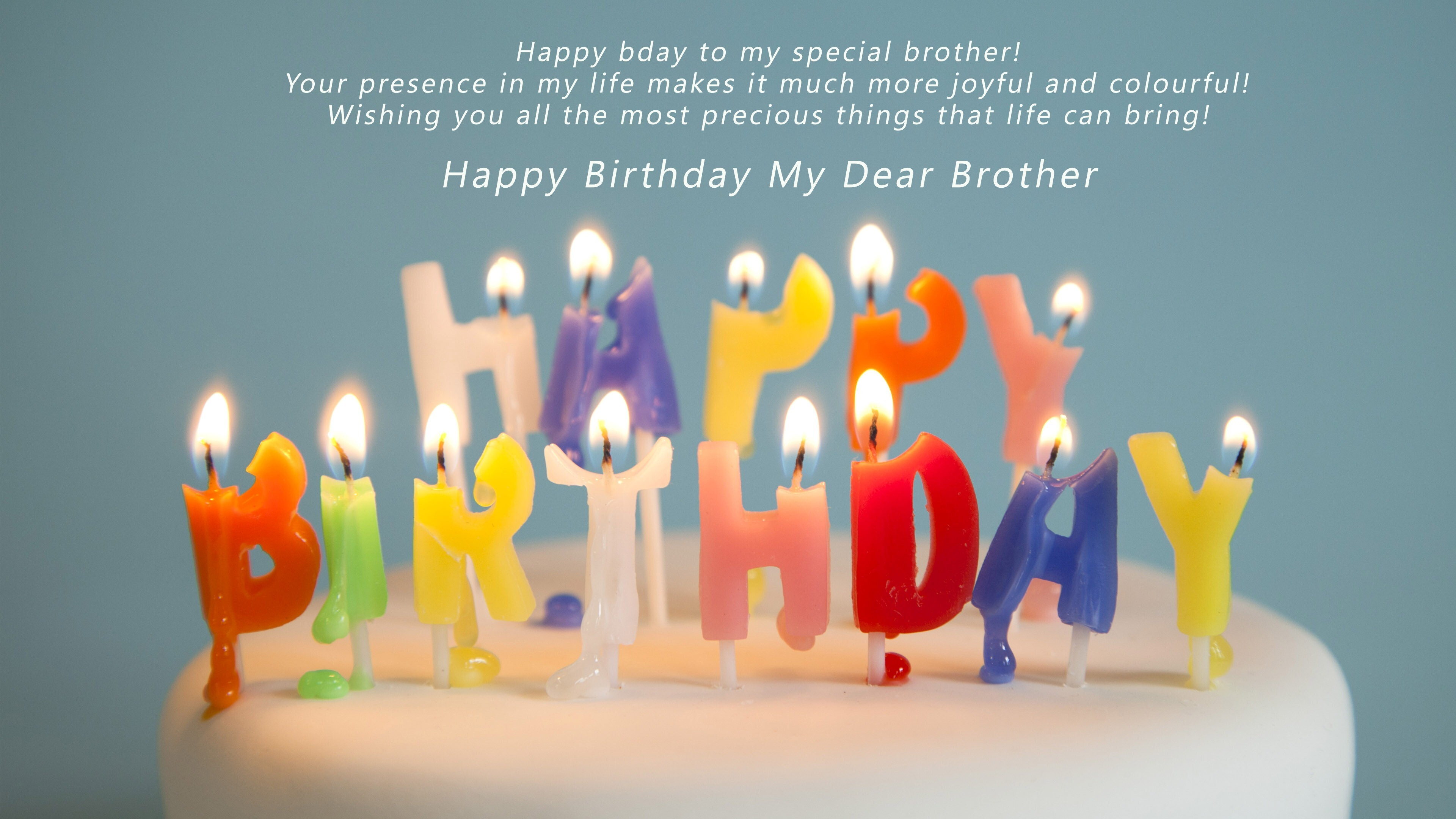 Wish You Happy Birthday My Dear Brother Hd Wallpapers