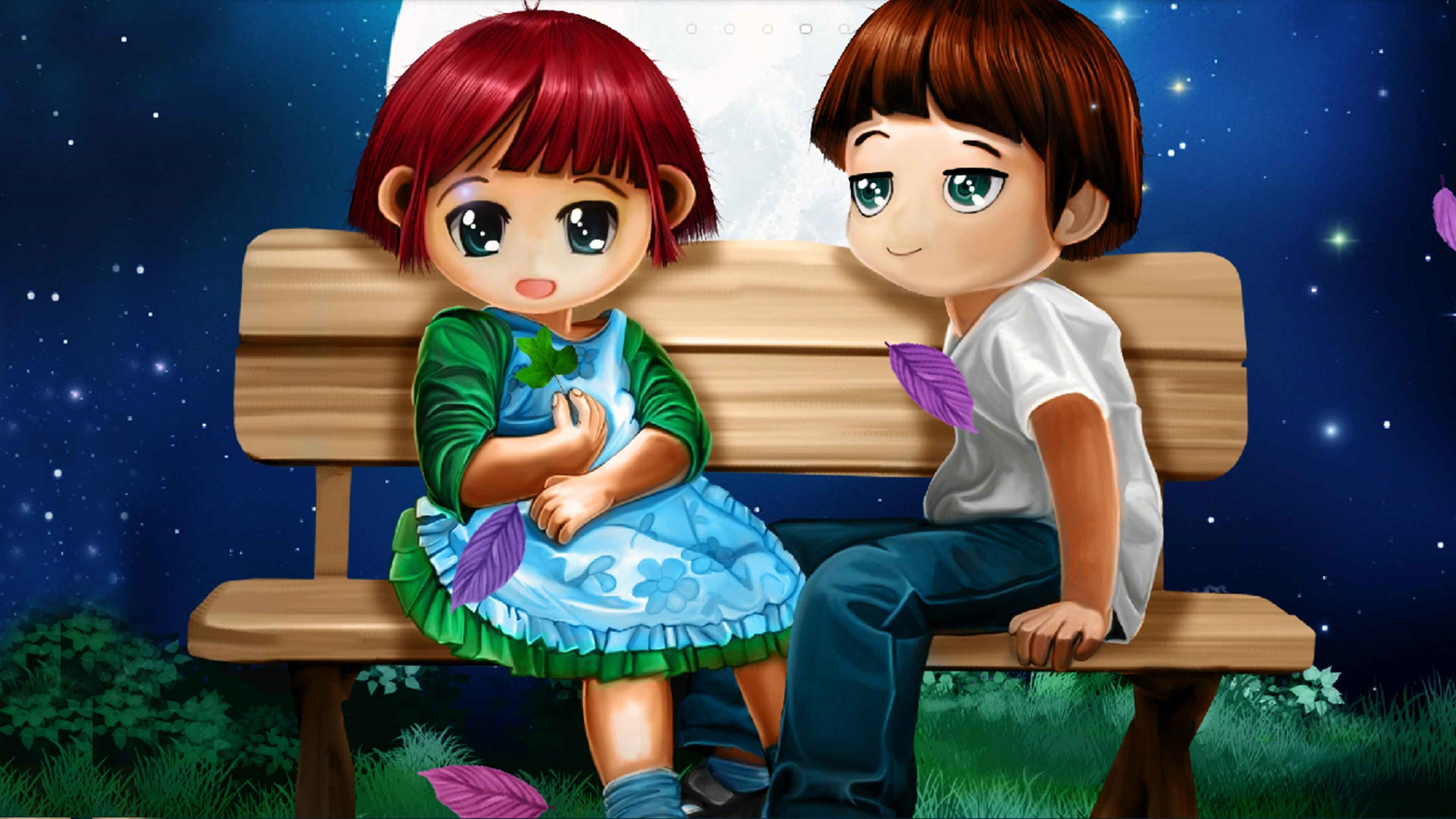 3d Love Couple Animated Hd Pictures Wallpapers: 3D Cartoon Couple 4K Wallpapers
