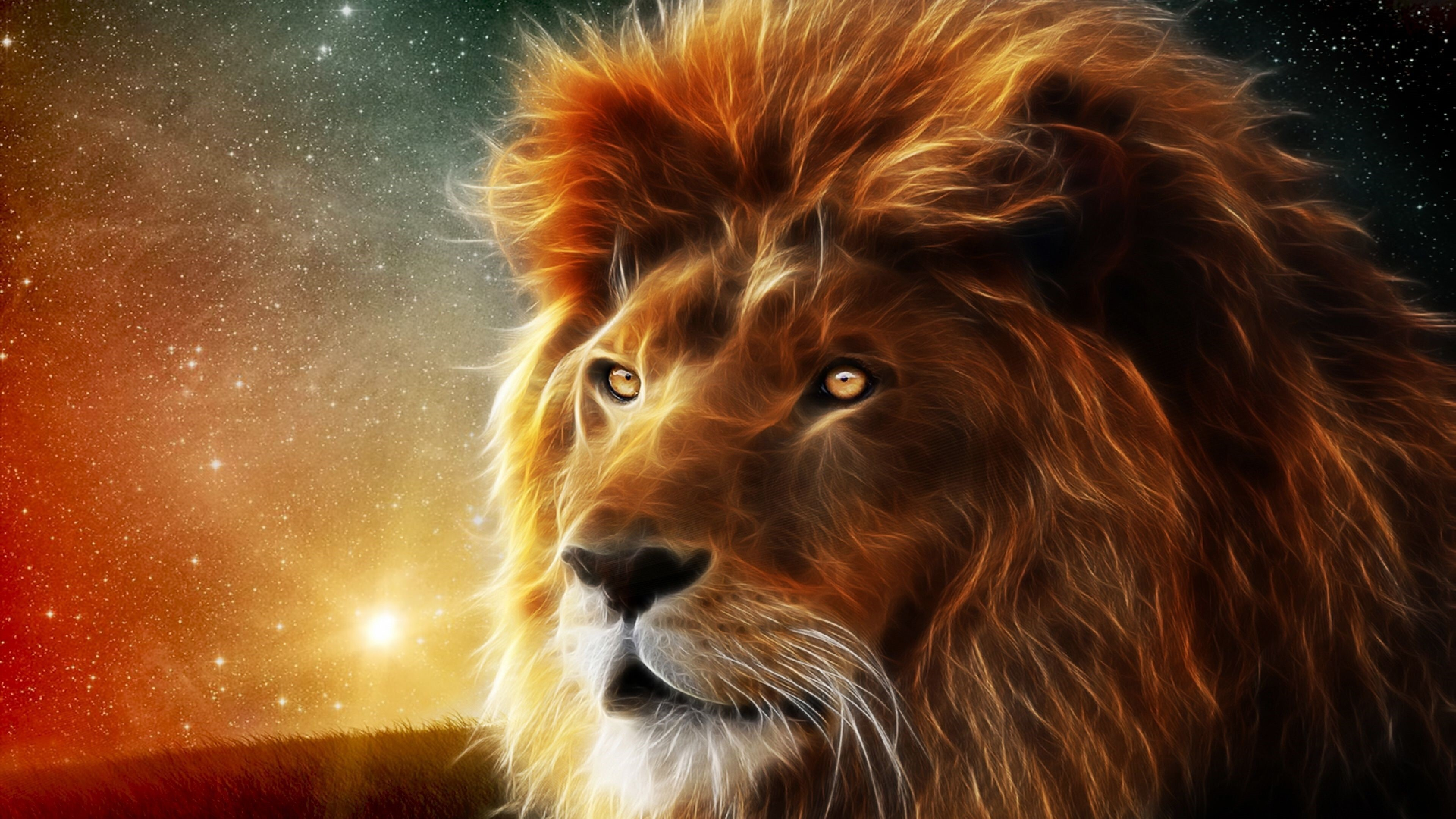 3D Lion Animal 4K Wallpapers