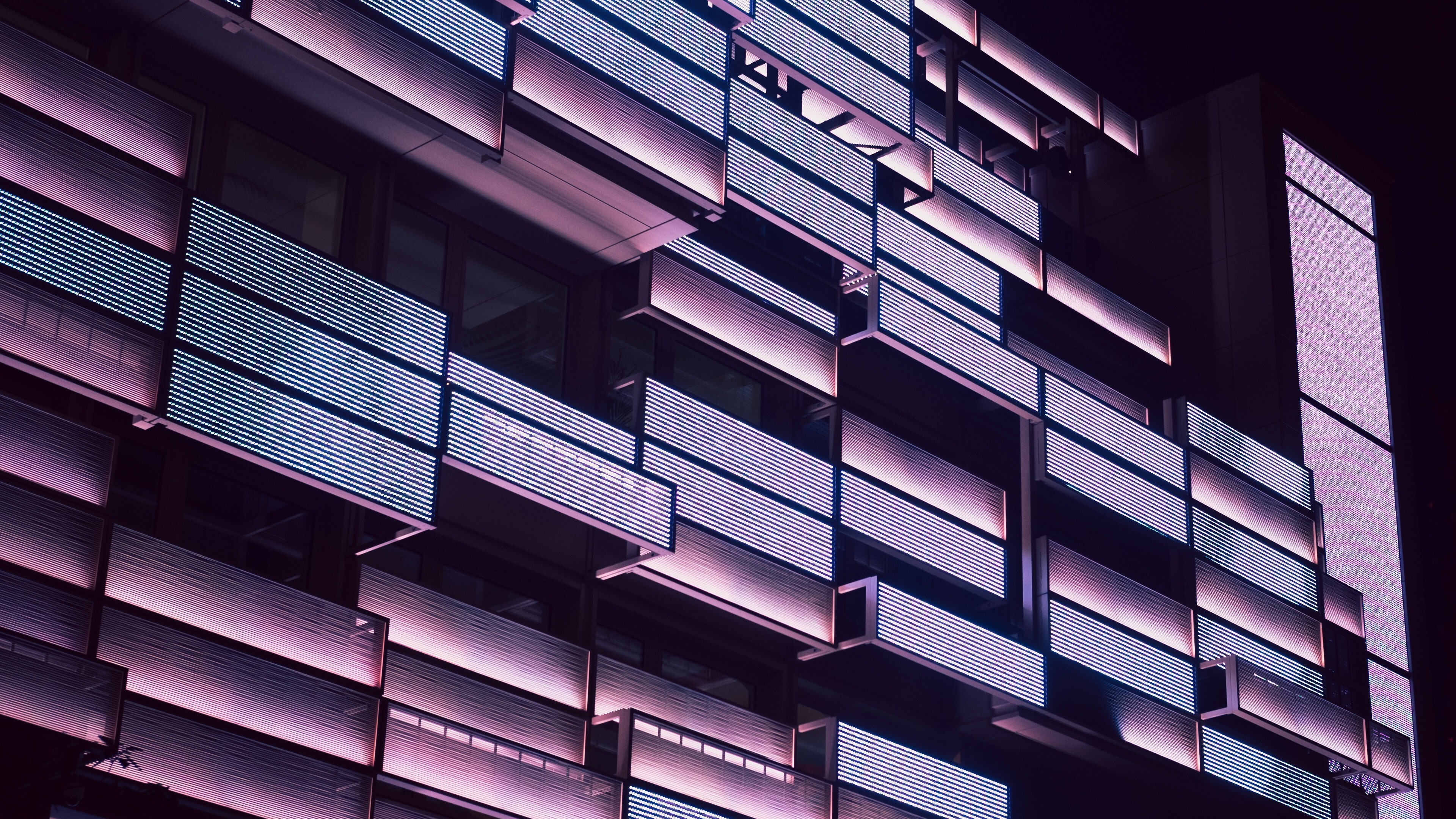 Building Balcony Abstract 4K Wallpaper | HD Wallpapers