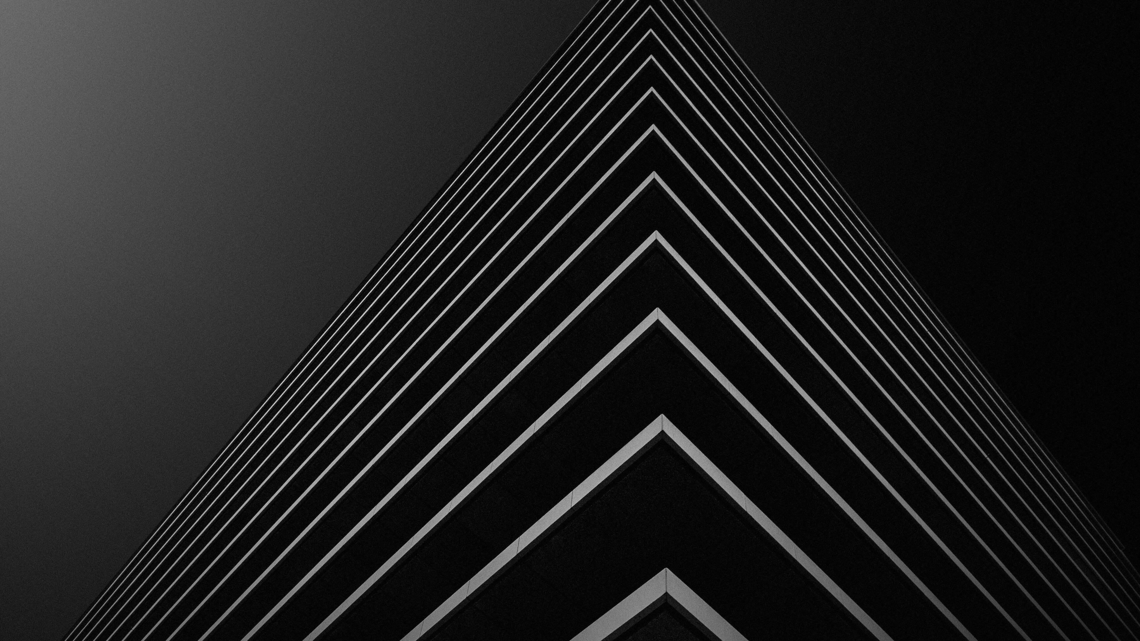Building Corner in Black Background 4K Wallpaper | HD ...