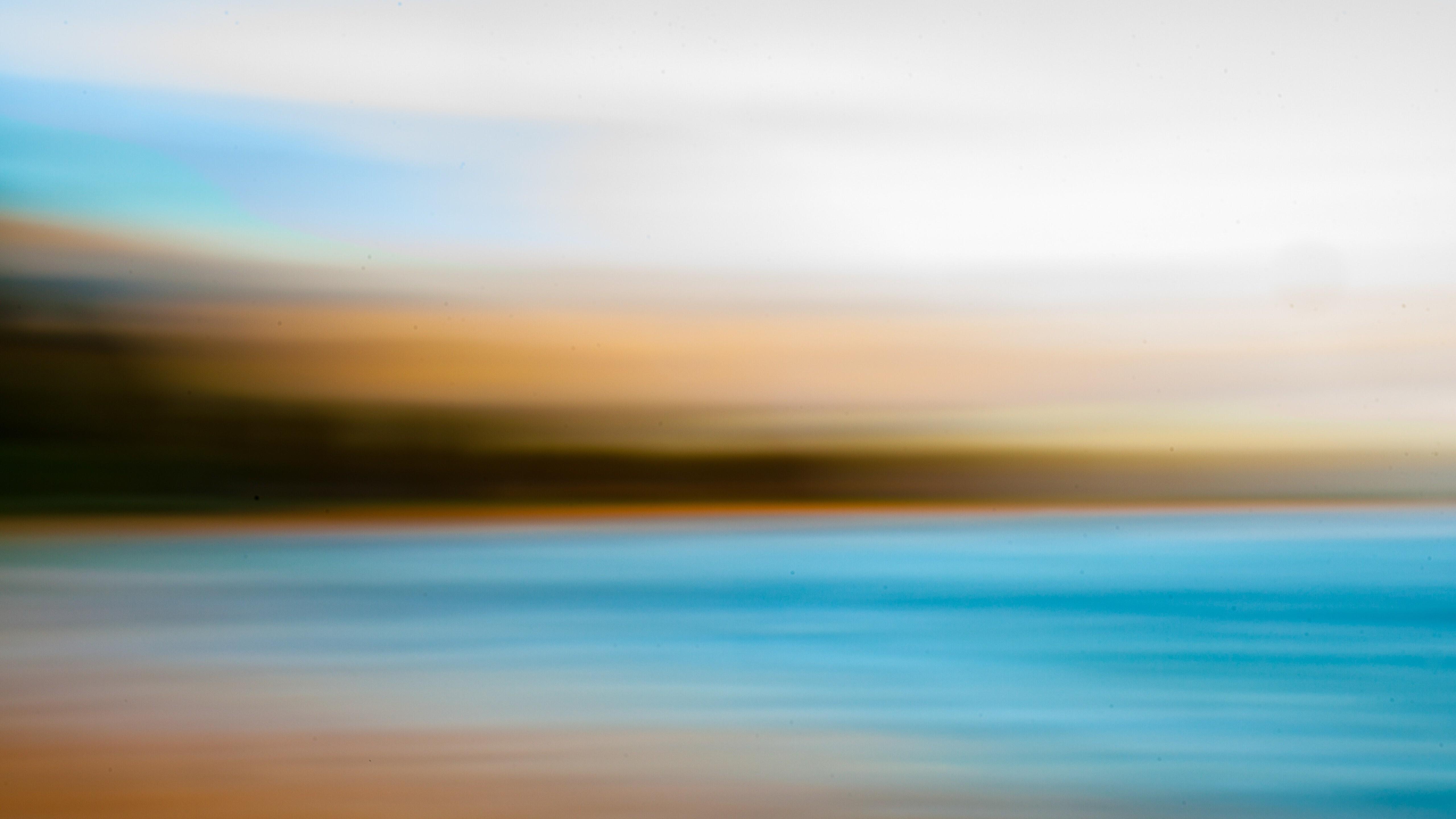 Natural Sea Abstract 5K Blur Wallpaper