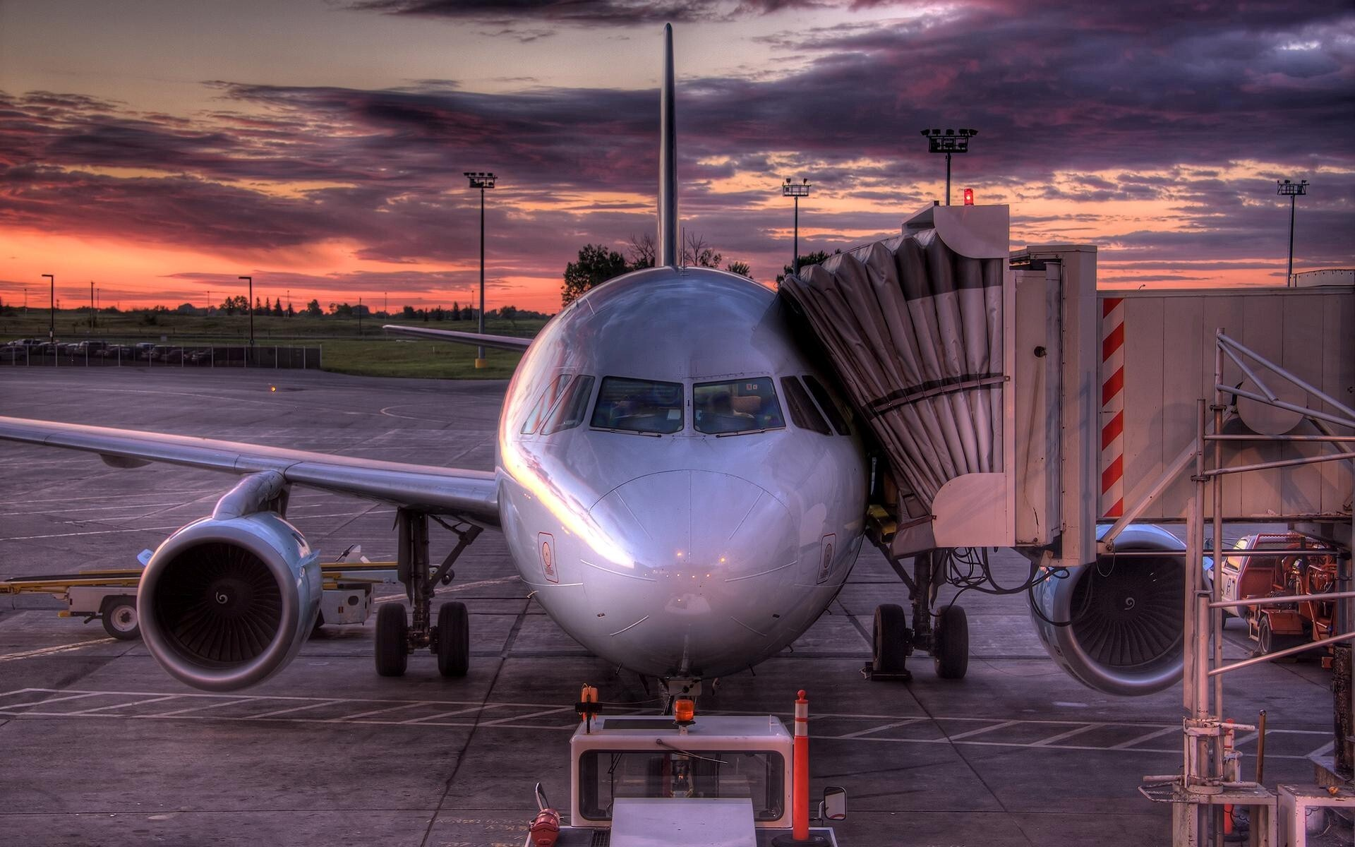 Airplan in Airport | HD Wallpapers