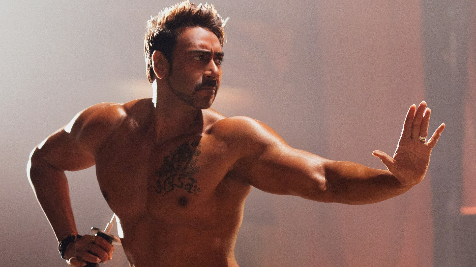 Ajay Devgan Six Pack Abs Body With Tatto Hd Wallpapers Hd Wallpapers