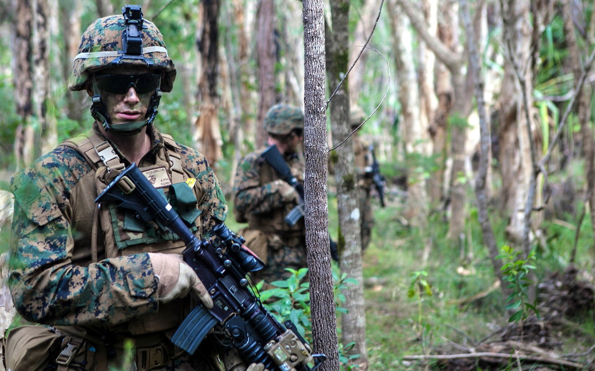 american army sodier in jungle hd wallpaper | hd wallpapers