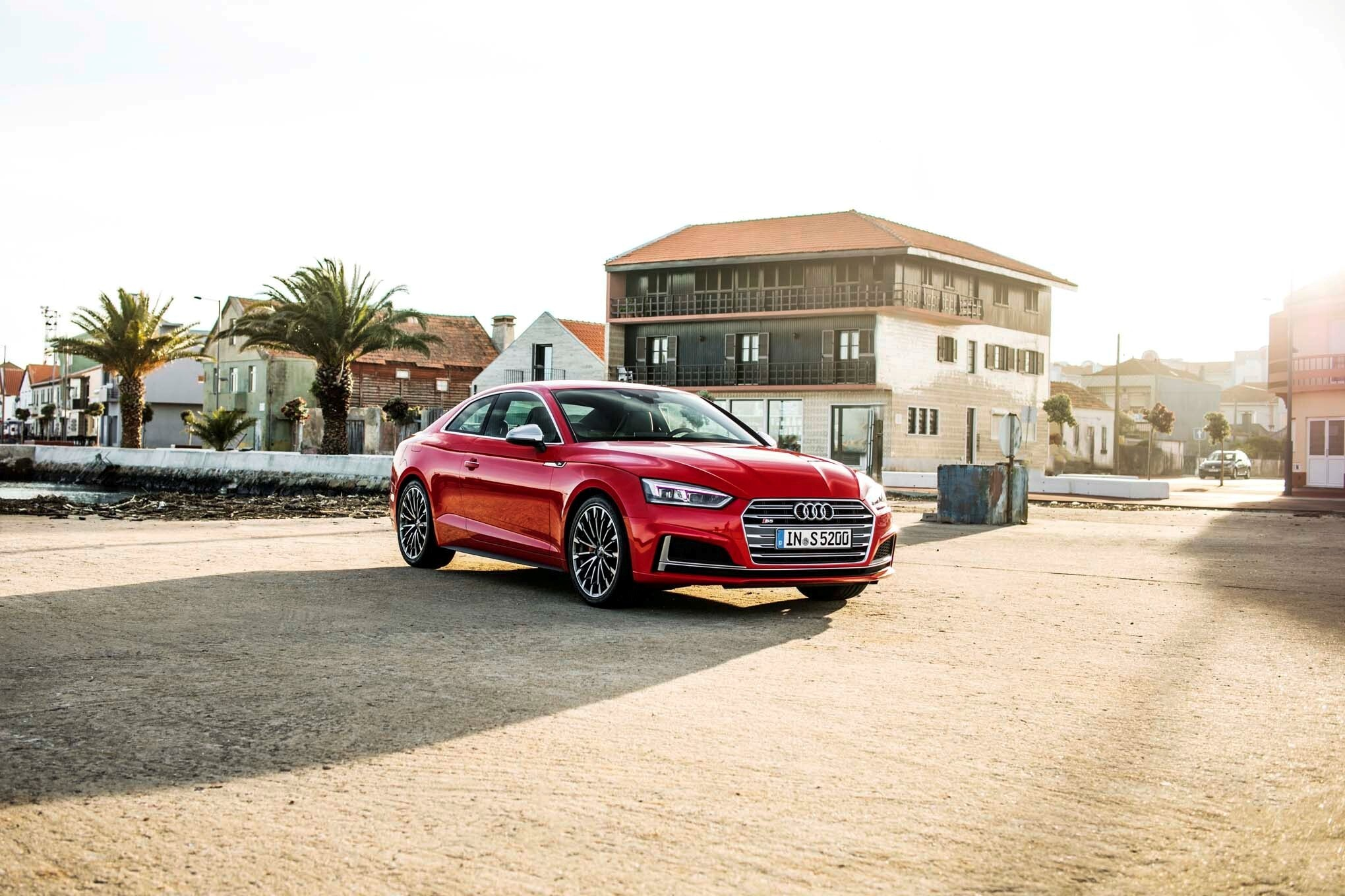 Audi s5 sportback 2018 red car photo hd wallpapers - Car wallpapers for galaxy s5 ...