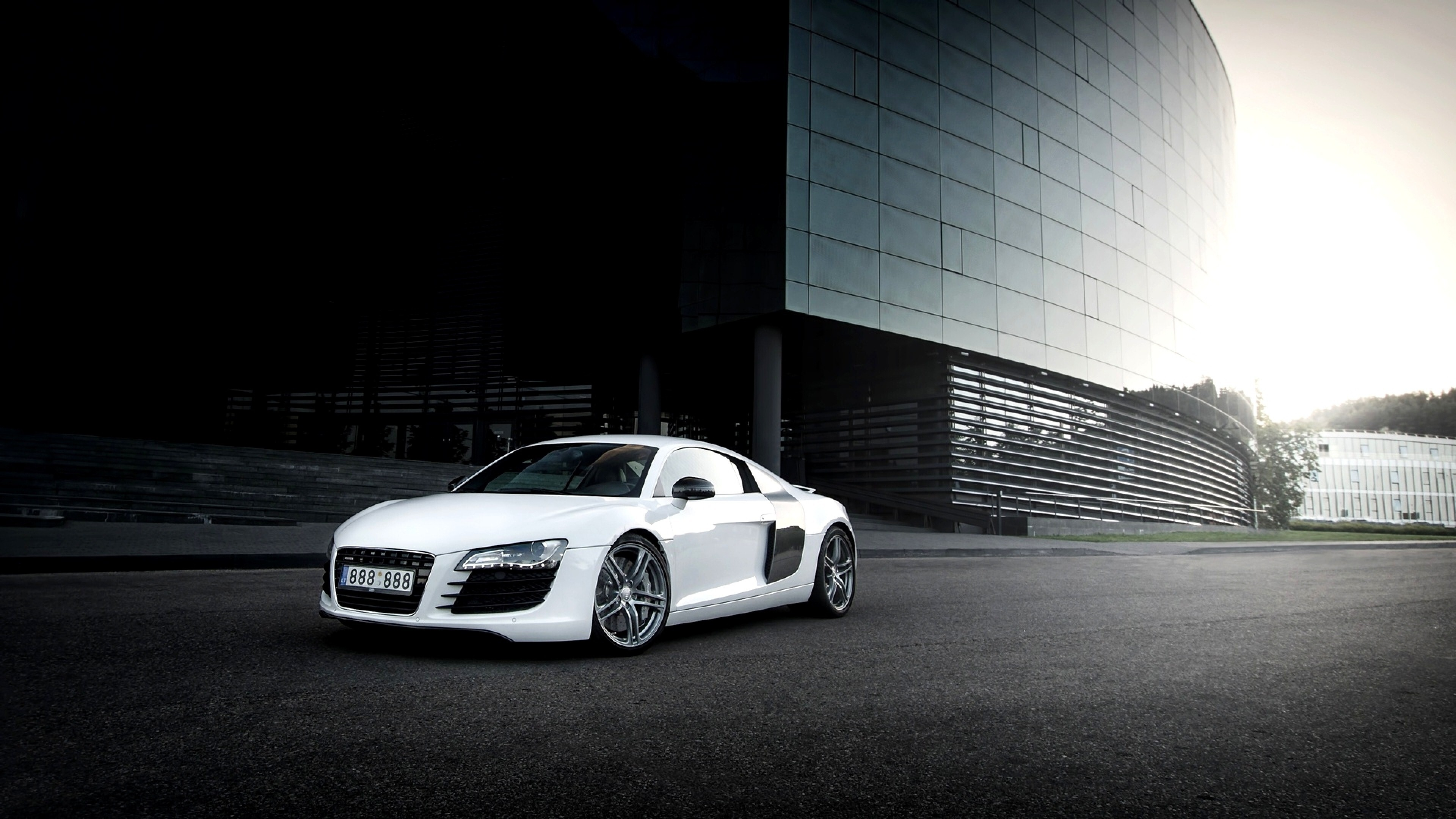 White Audi R8 Background Wallpaper Hd Wallpapers