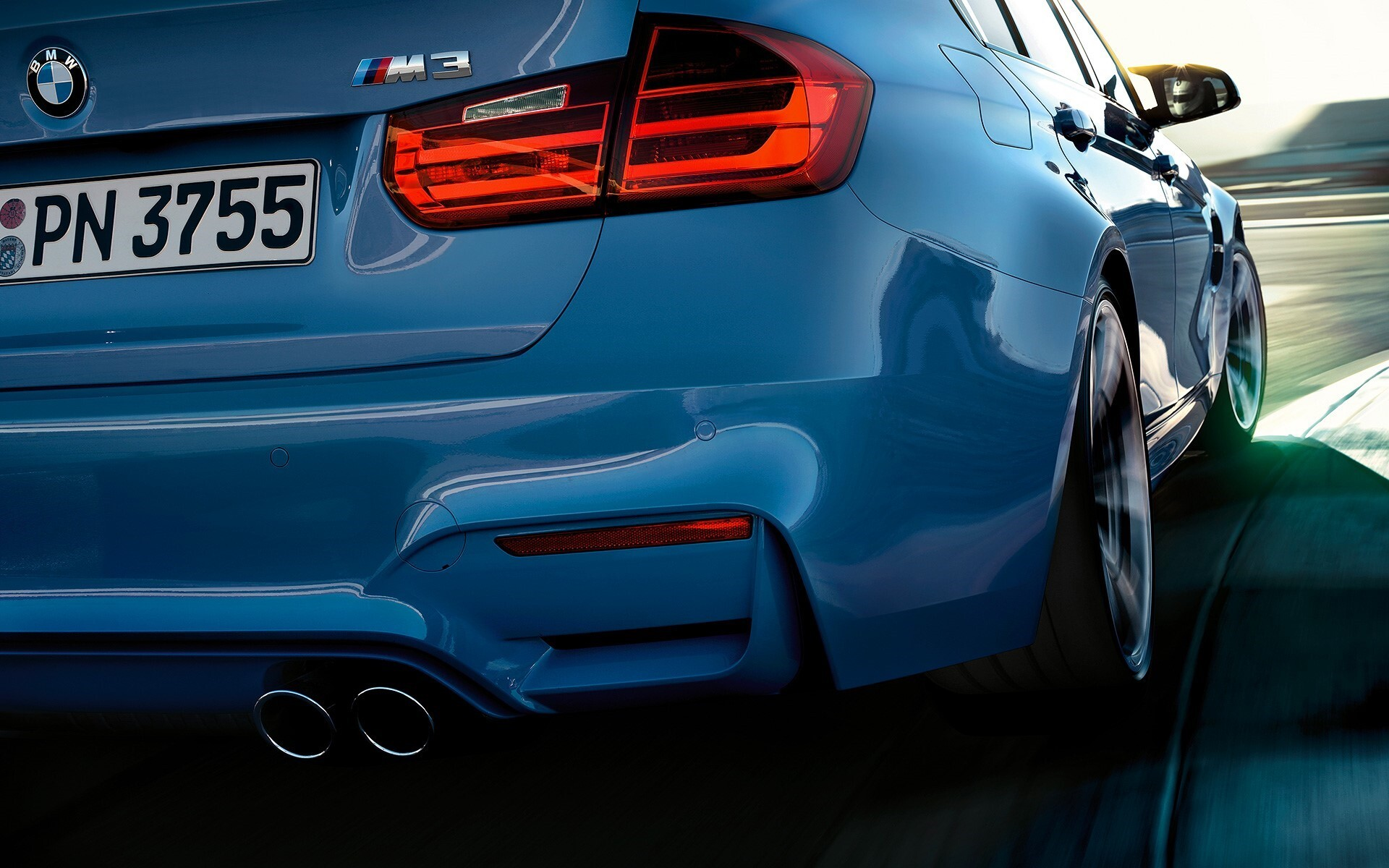 Bmw M3 Back Side Rear View Super Car Wallpapers Hd Wallpapers