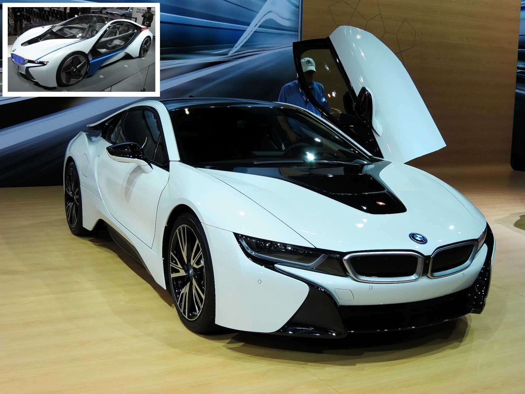 Latest Super Crystal White Bmw I8 Luxury 2 Seater Car Photos Hd