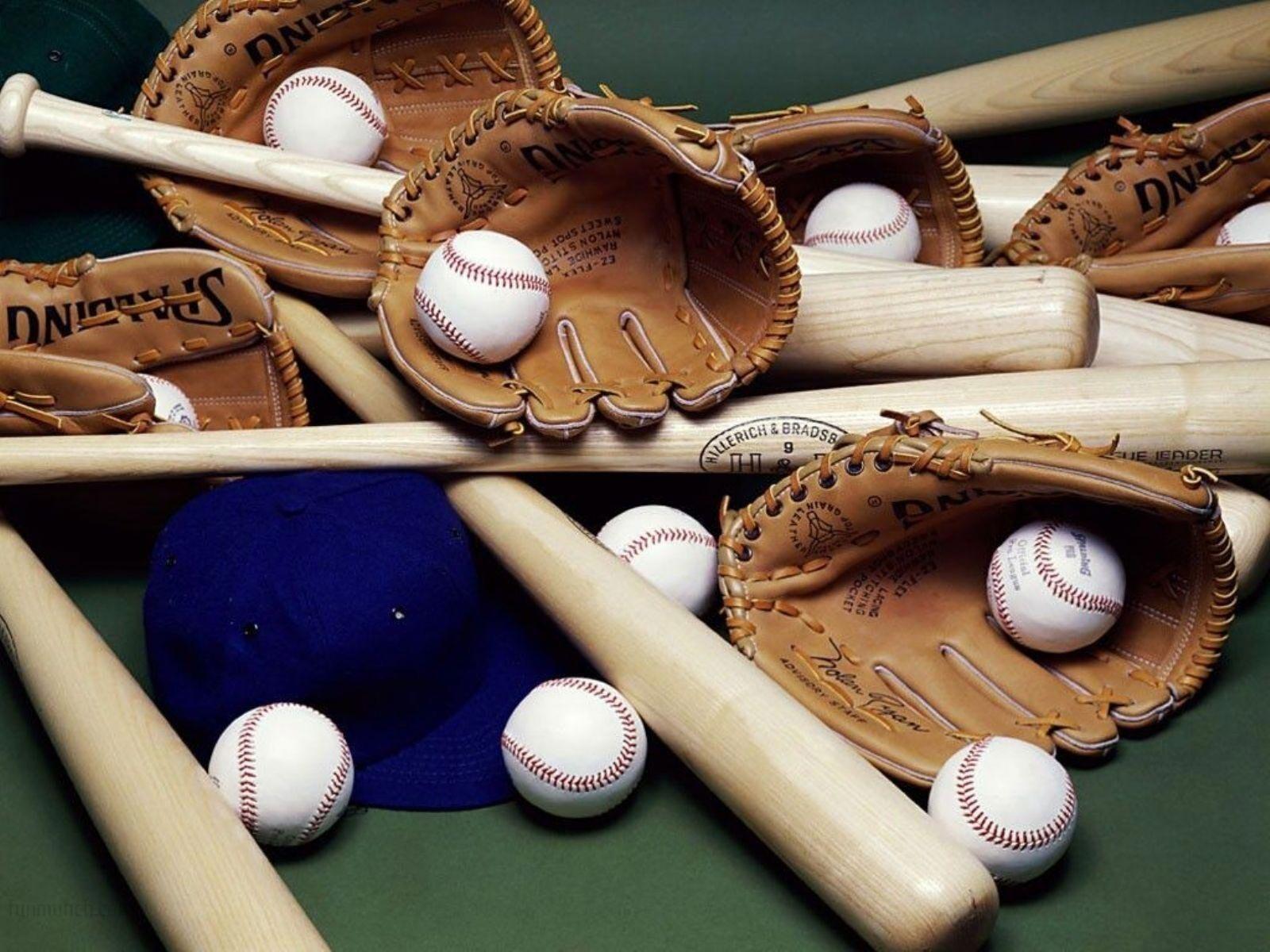 Baseball Bat Ball Cap and Glove | HD Wallpapers