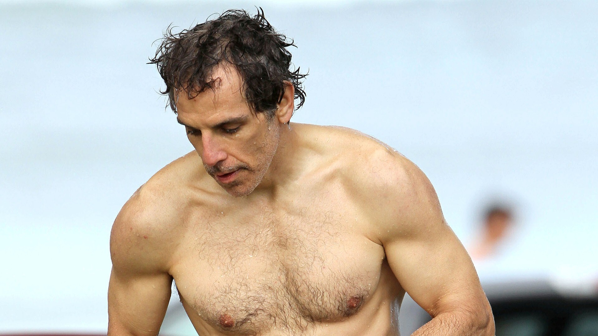 Hollywood Actor Ben Stiller Six Pack Abs Body Wallpapers