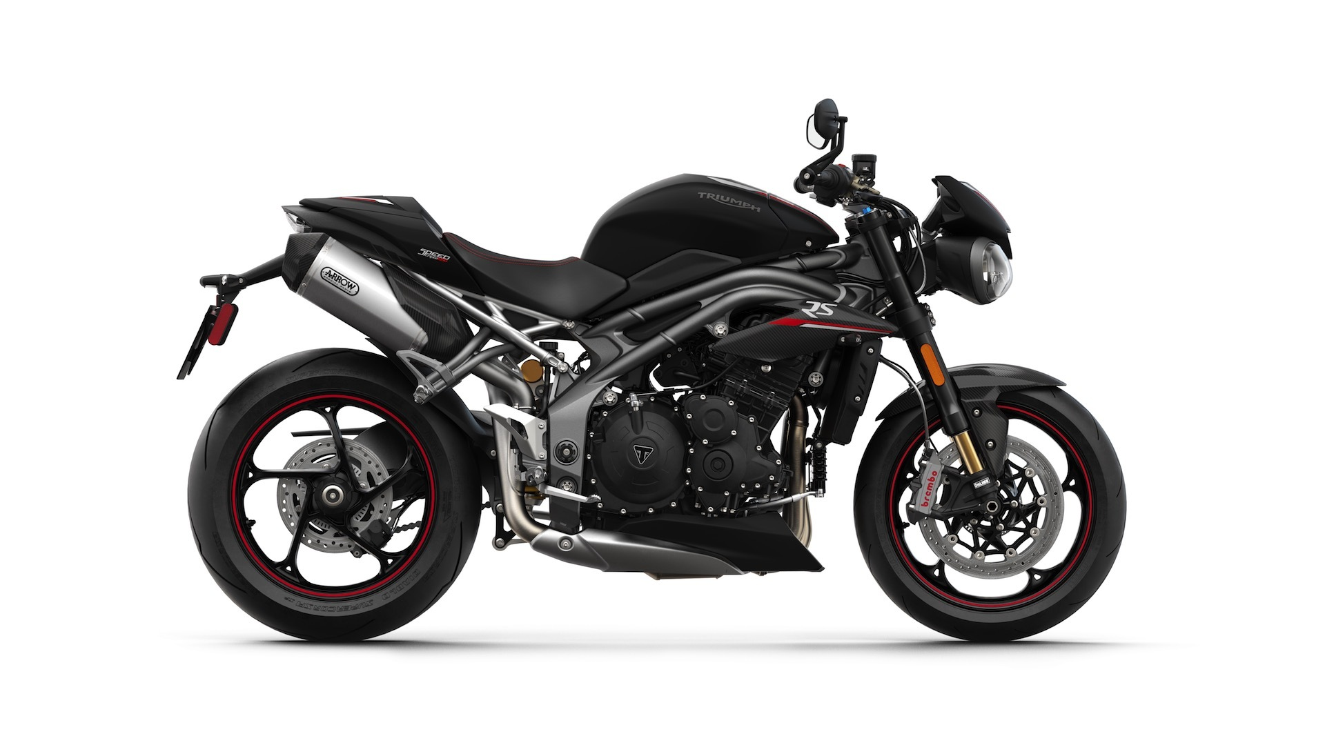 2018 triumph speed triple rs black bike | hd wallpapers