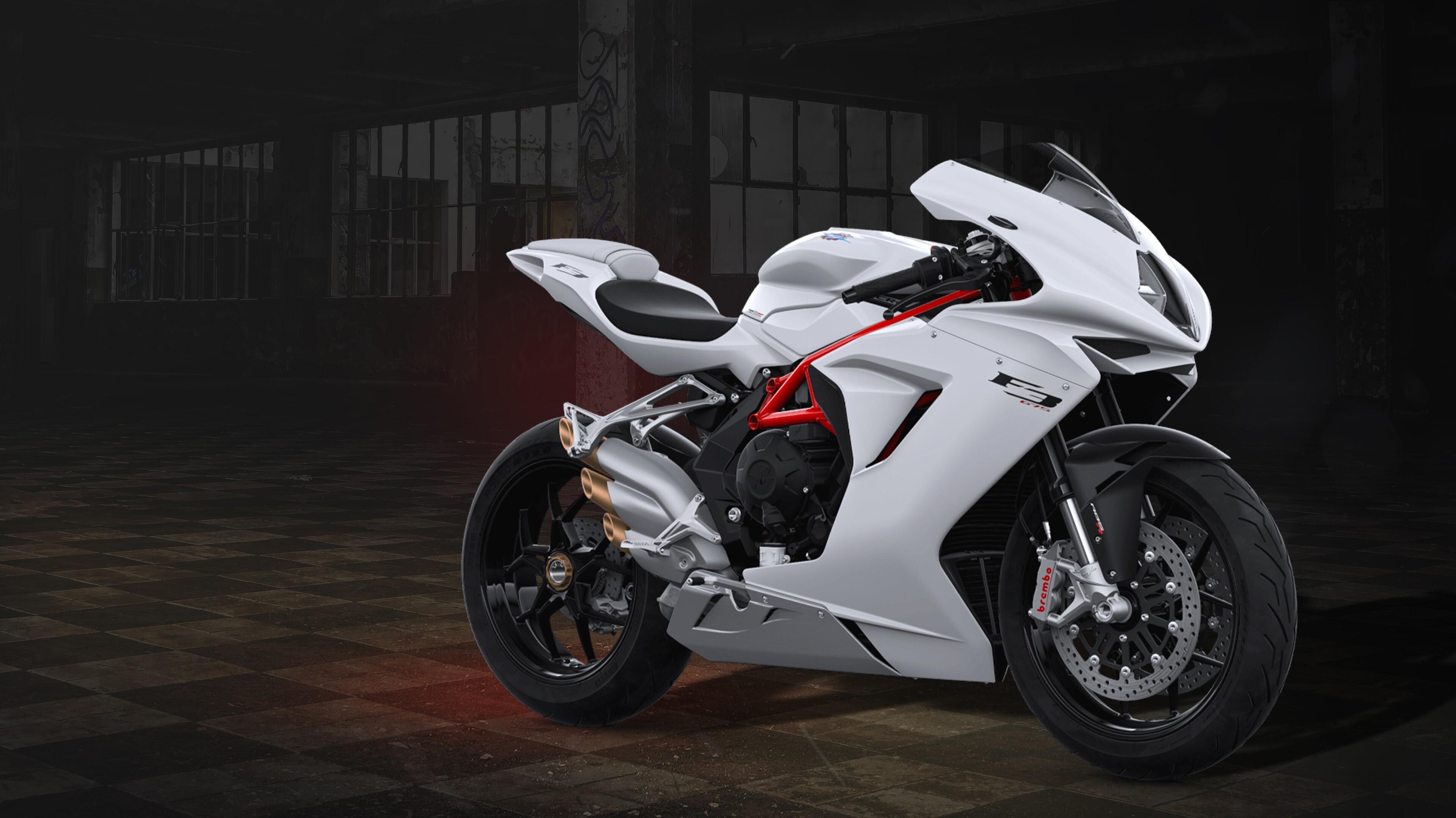 2019 MV Agusta F3 675 White 4K Bike