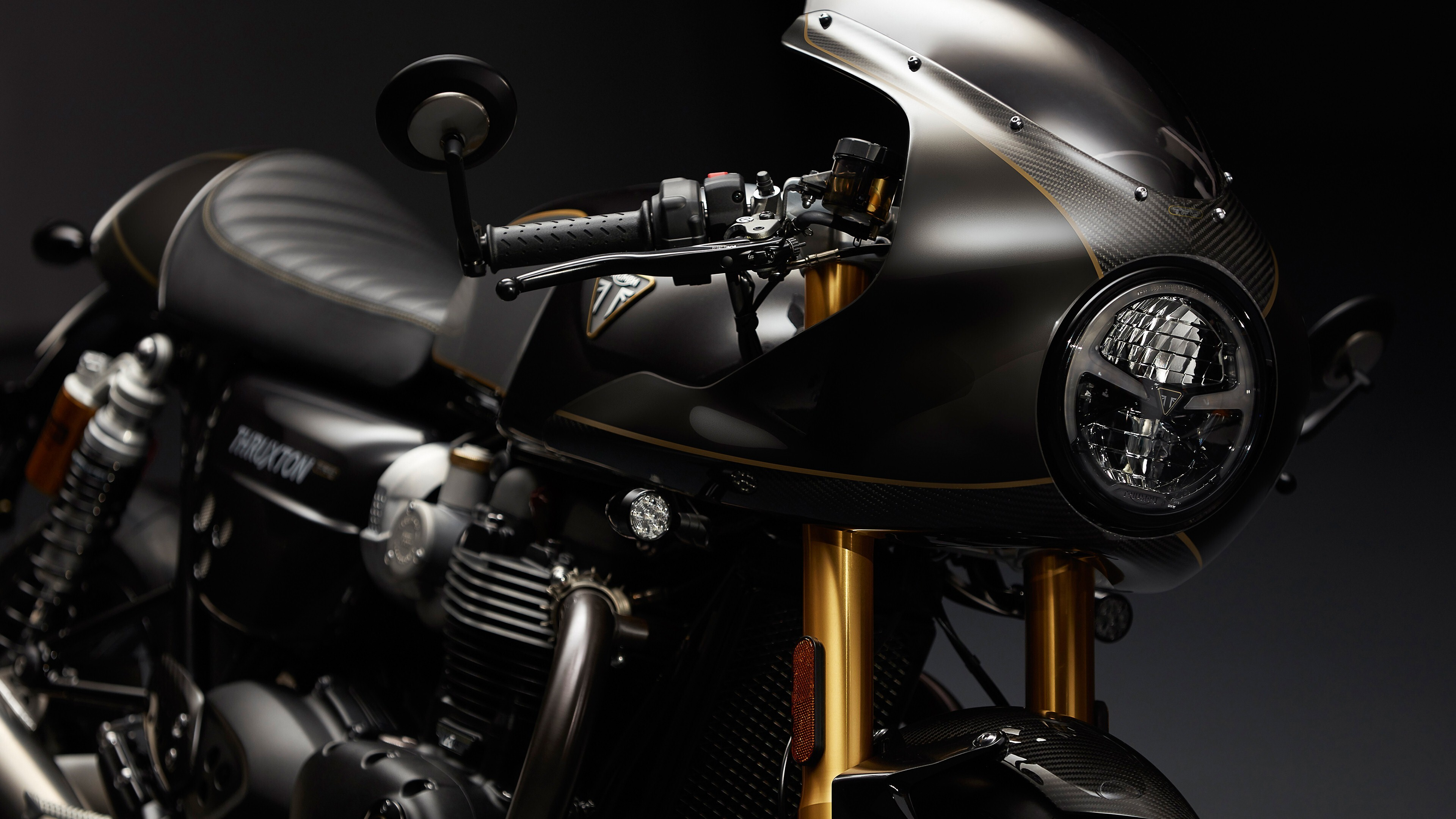 4K Wallpaper Of 2019 Triumph Thruxton TFC Motorcycle