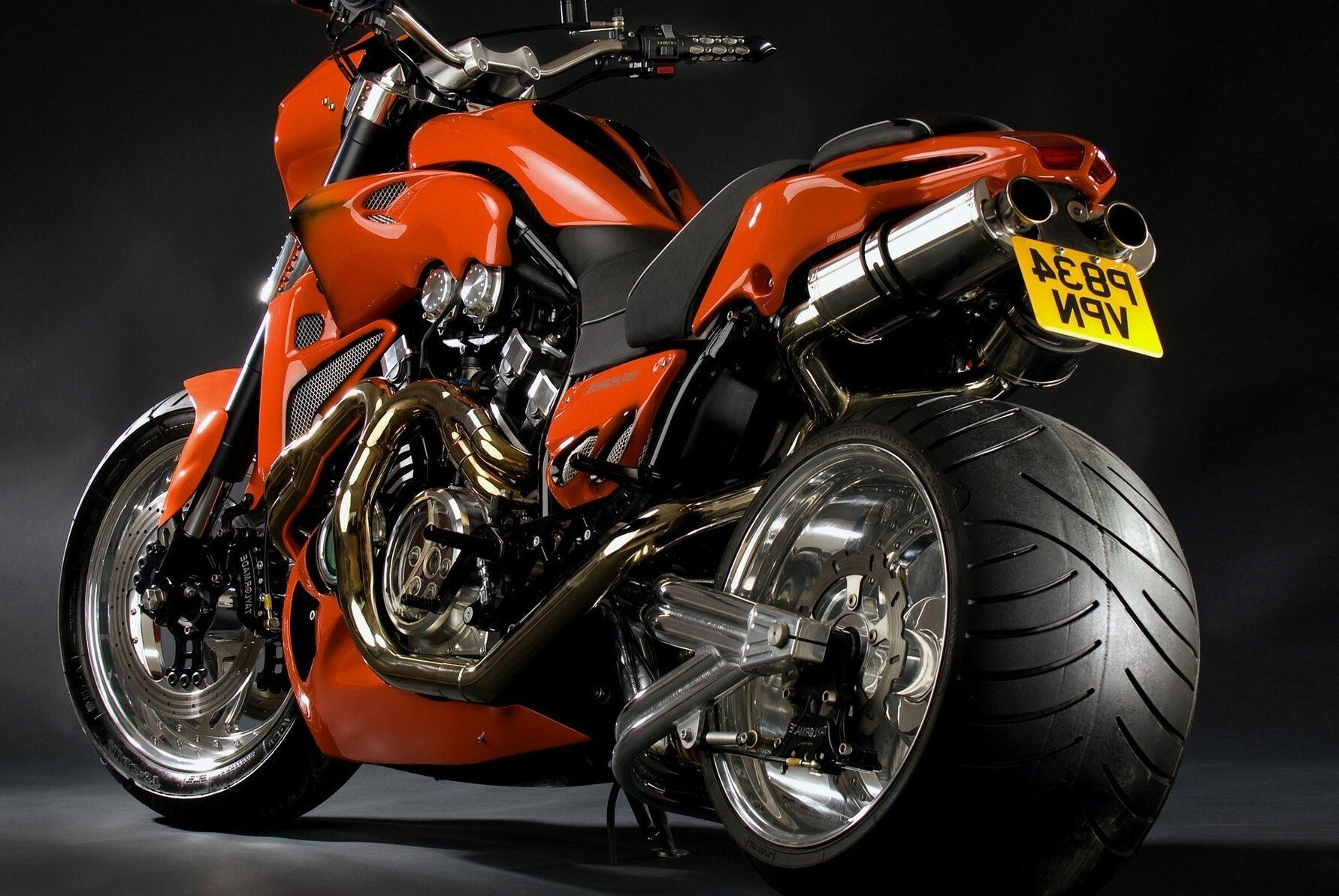Sports Wallpapers Hd: Amazing Orange Sport Bike HD Wallpaper