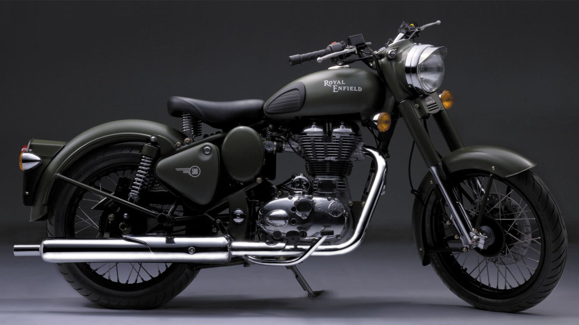 Royal Enfield Black Bullet Hd Wallpapers