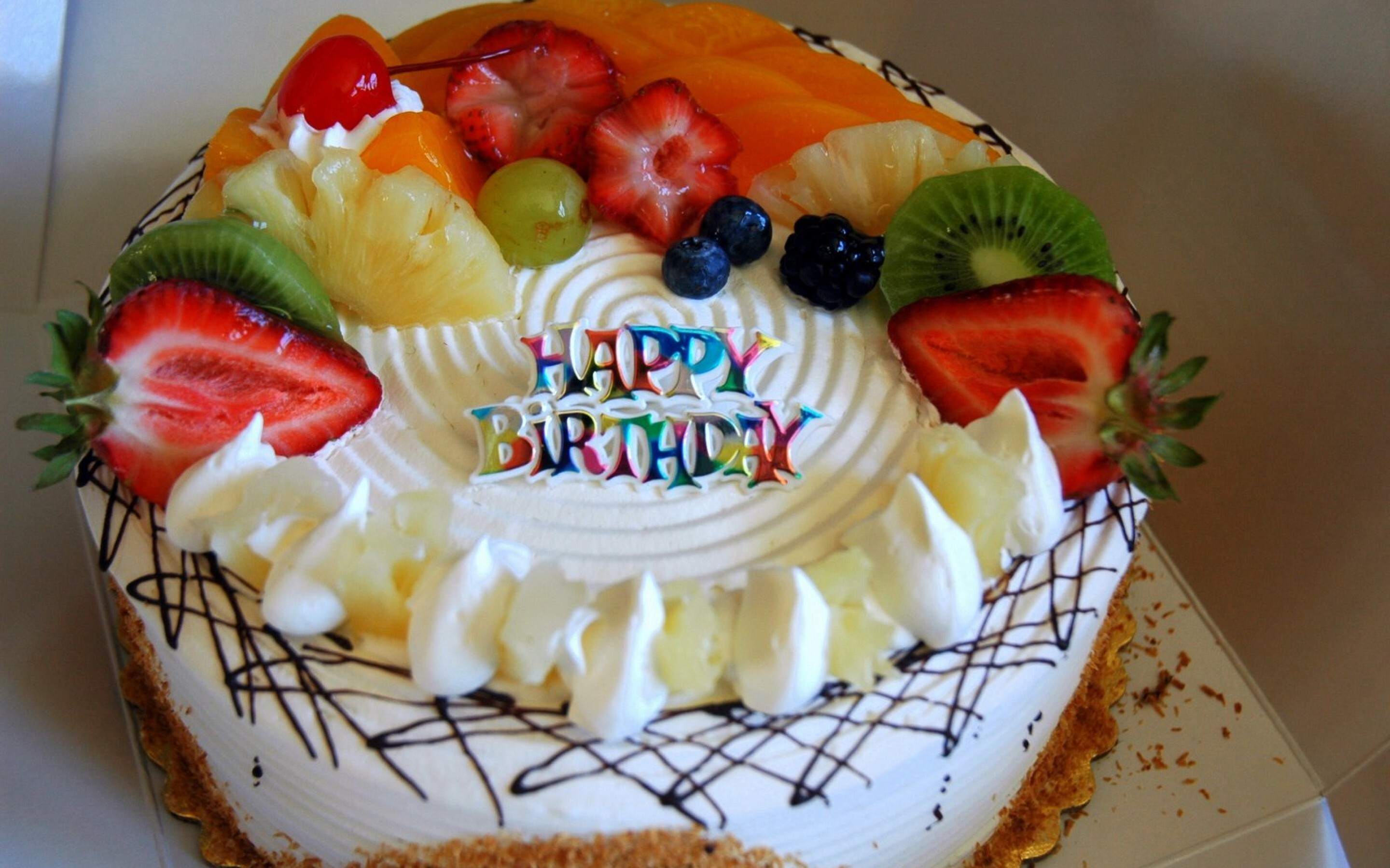 Amazing Beautiful Fruits Birthday Cake Wallpapers Hd Wallpapers