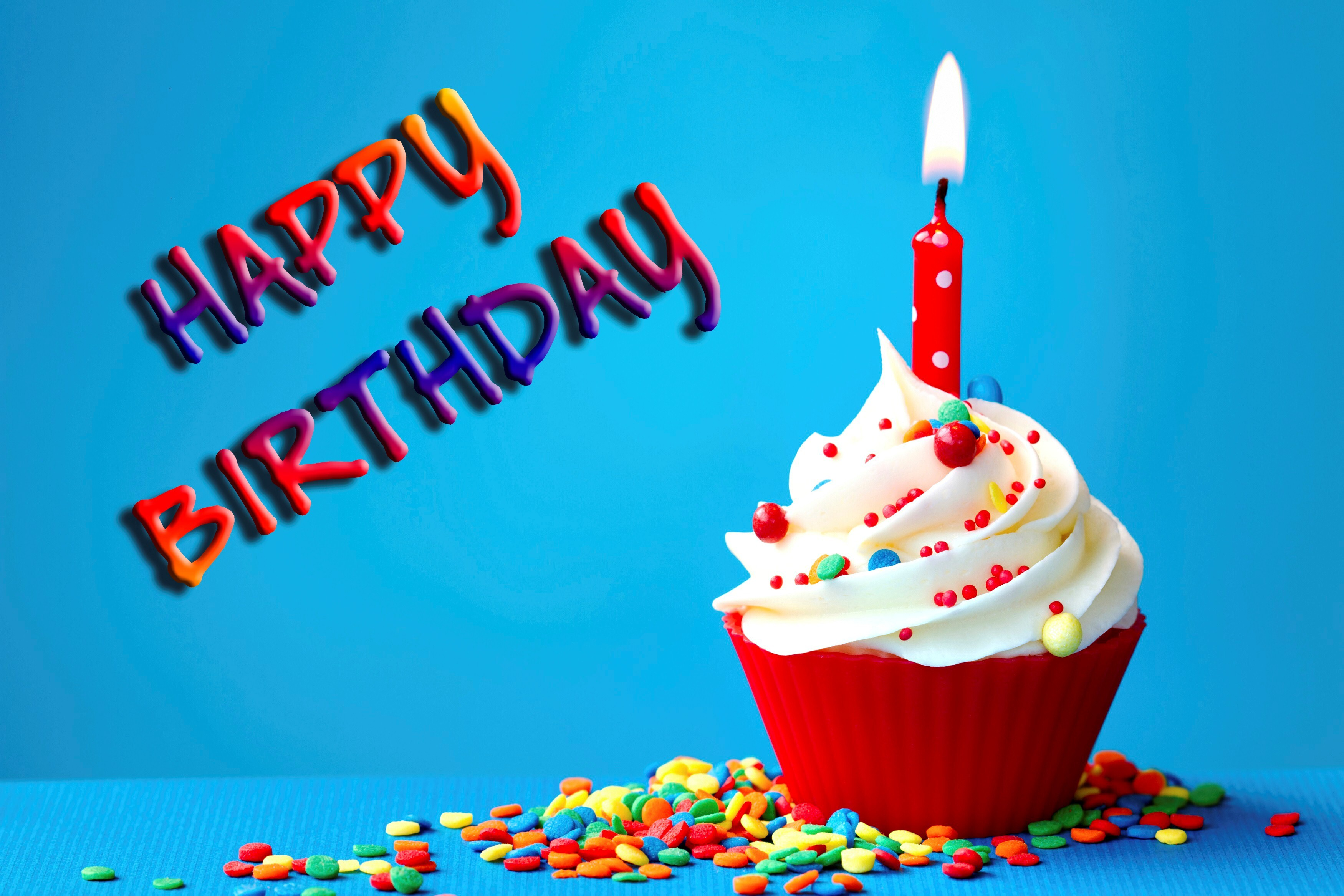 Amazing Birthday Wish with Cake and Candle Wallpaper | HD ...