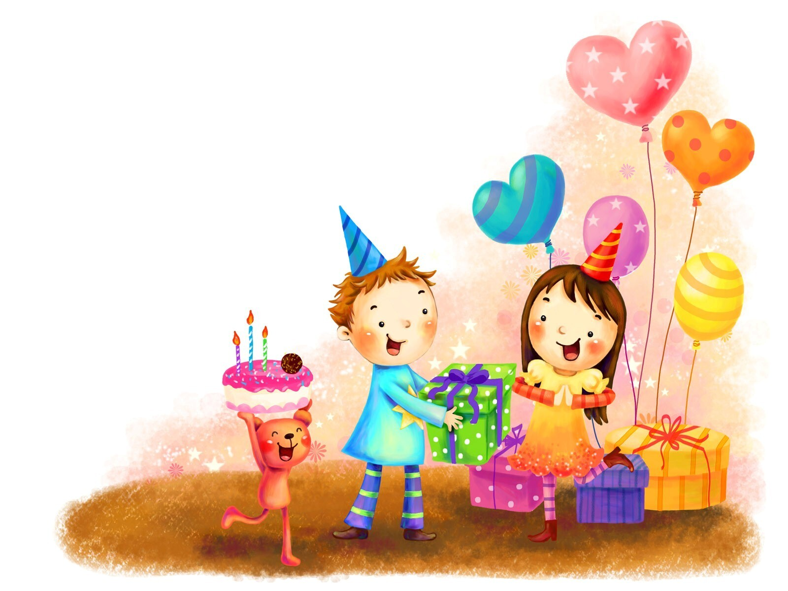Cartton Celebrate Birthday Party Hd Wallpapers