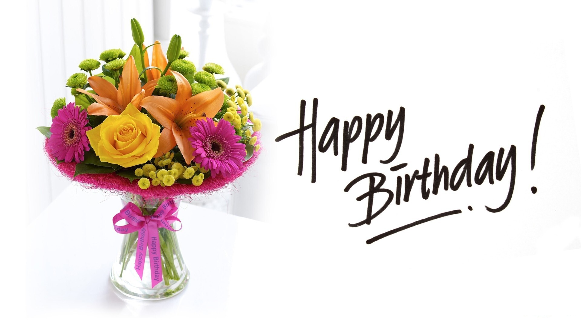 Wallpaper download birthday - 1397 Views 584 Download Happy Birthday With Flower Hd Photo