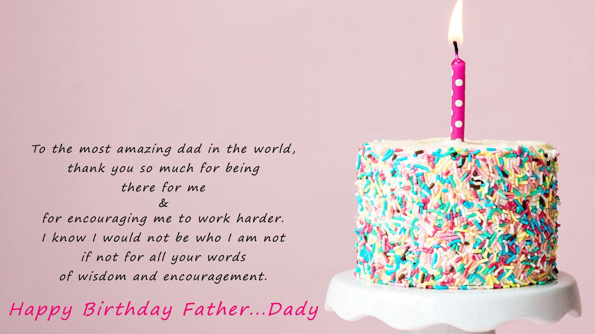 Happy Birthday Dad Wallpaper