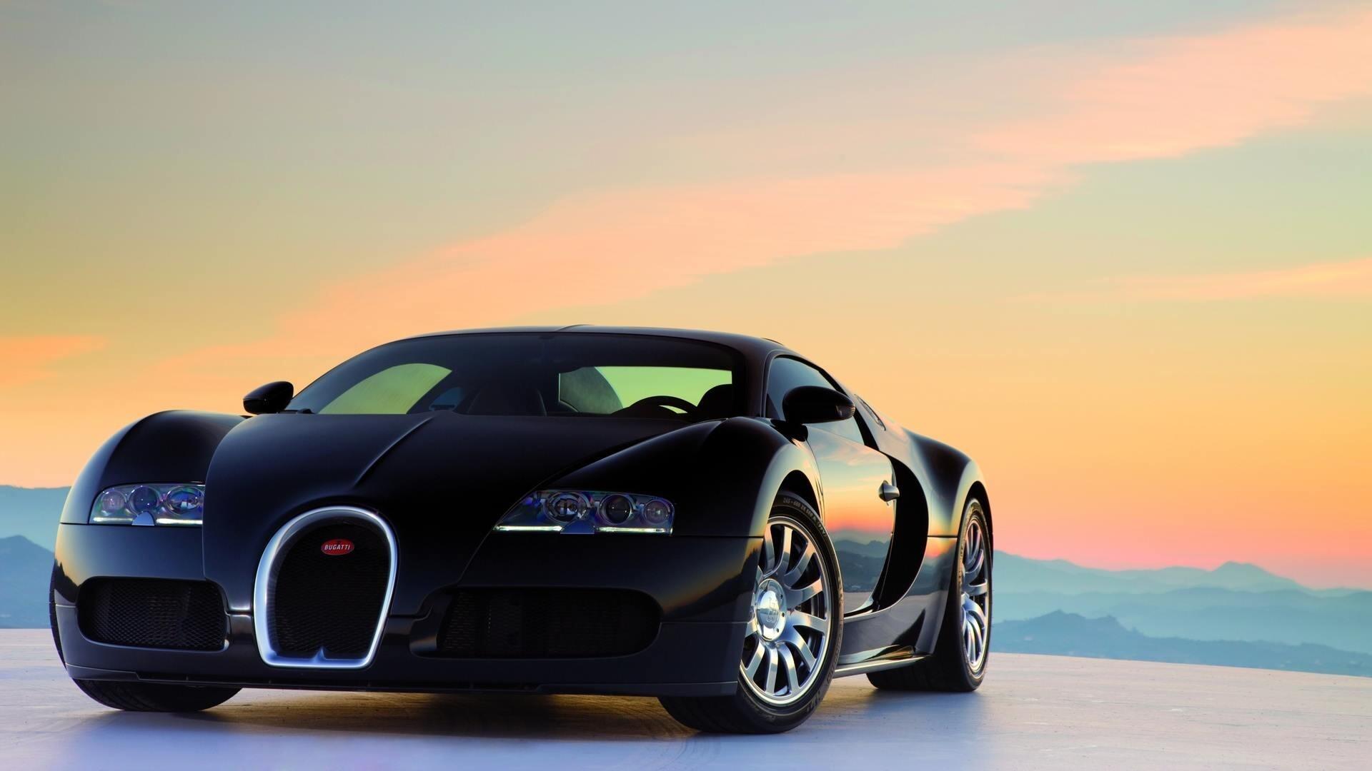 Black Bugatti Car Image   HD Wallpapers