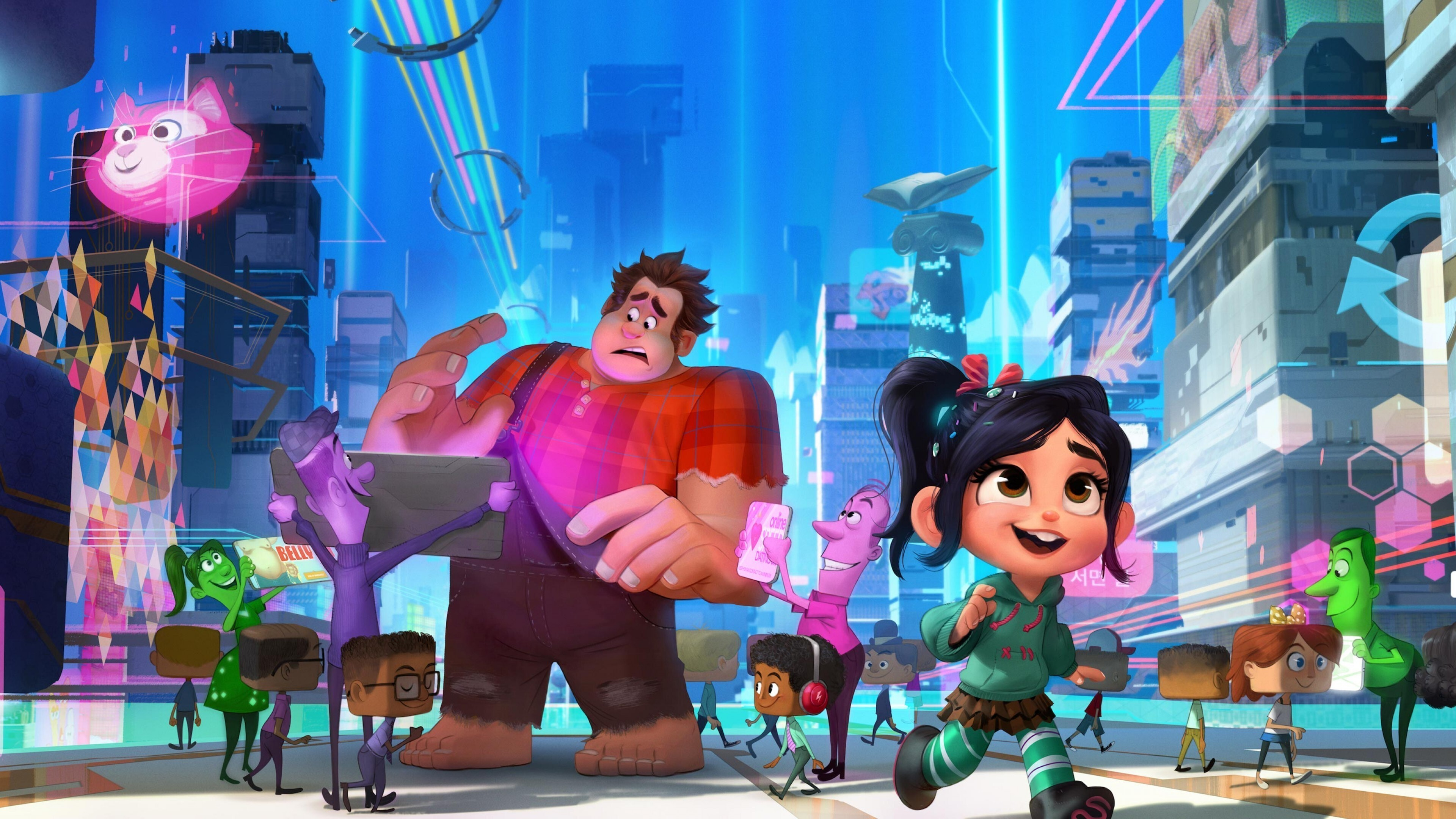 4k Wallpaper Of Ralph Breaks The Internet Hd Wallpapers