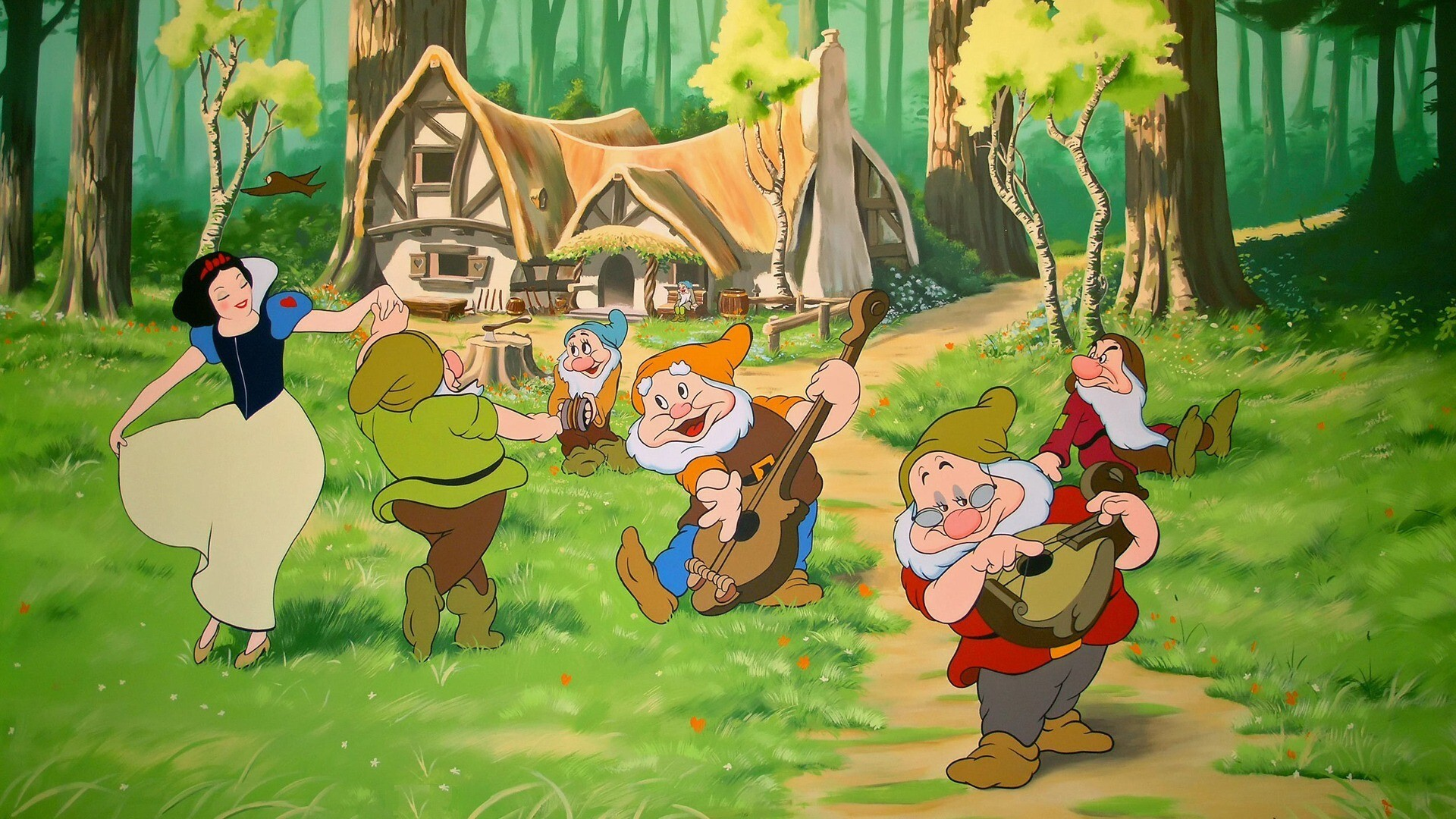 snow white and the seven dwarfs hd image hd wallpapers