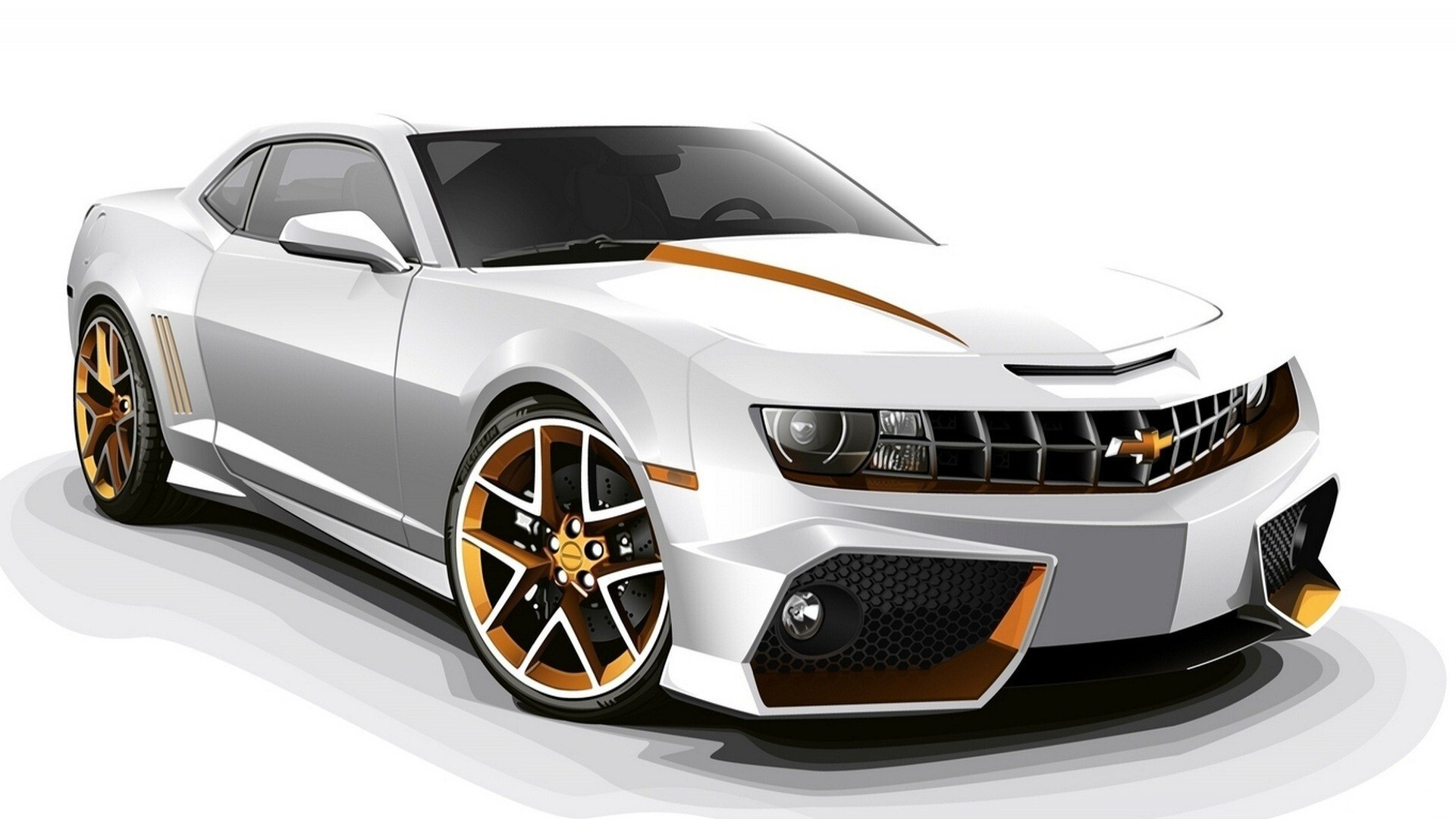 chevrolet camaro white 3d hd car wallpapers | hd wallpapers