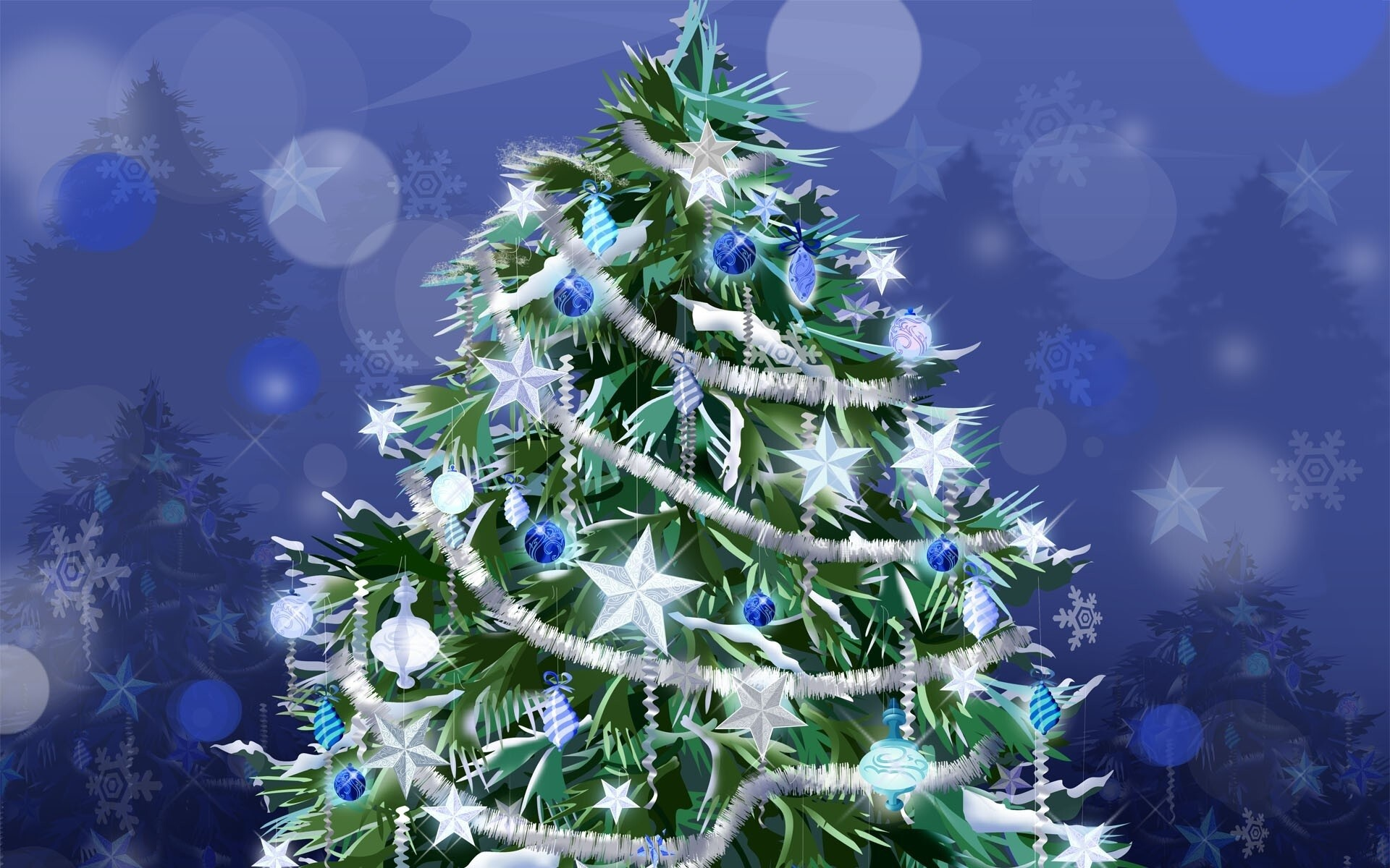 Beautiful Merry Christmas Tree Wallpapers