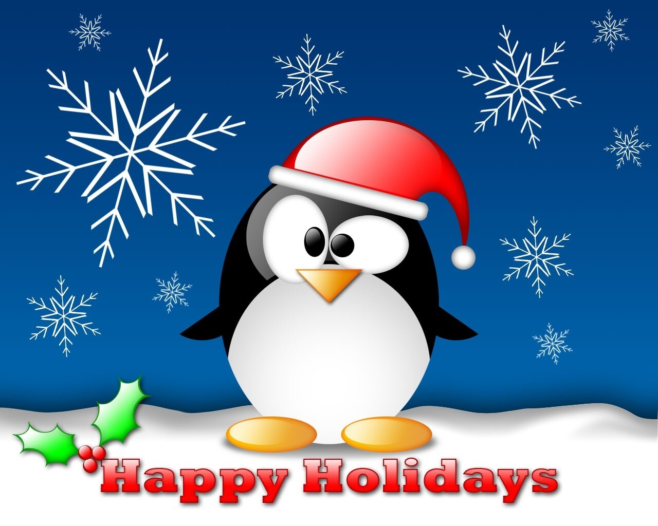 happy holiday penguin wallpaper hd wallpapers