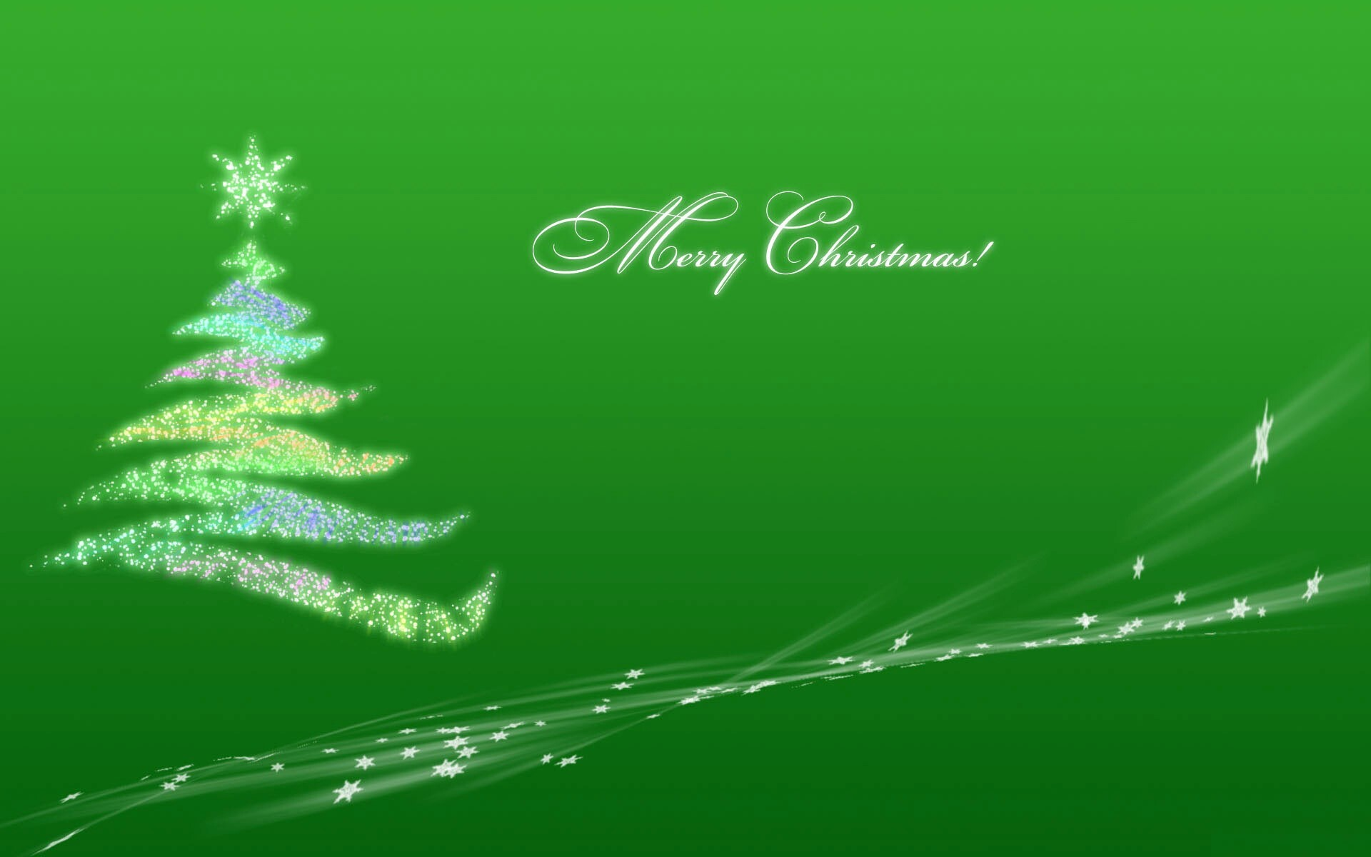 Merry Christmas Green Wallpaper On Holiday Free Download