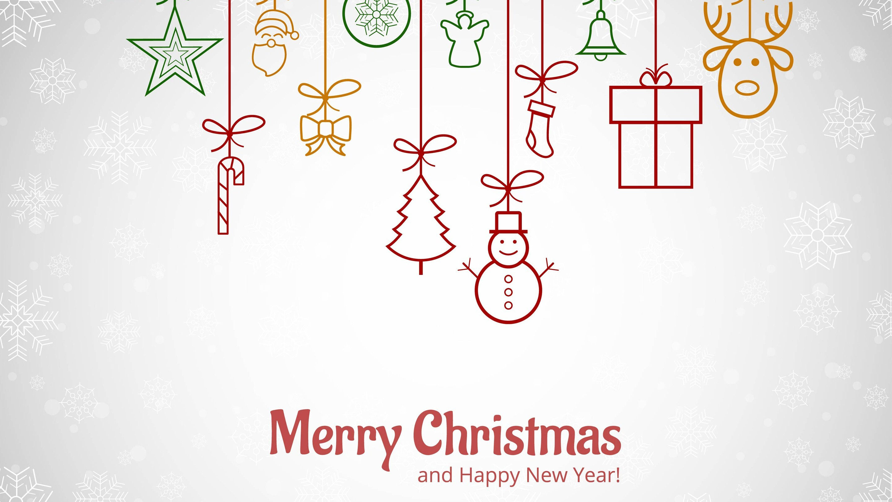Merry Christmas and Happy New Year HD Wallpaper | HD Wallpapers