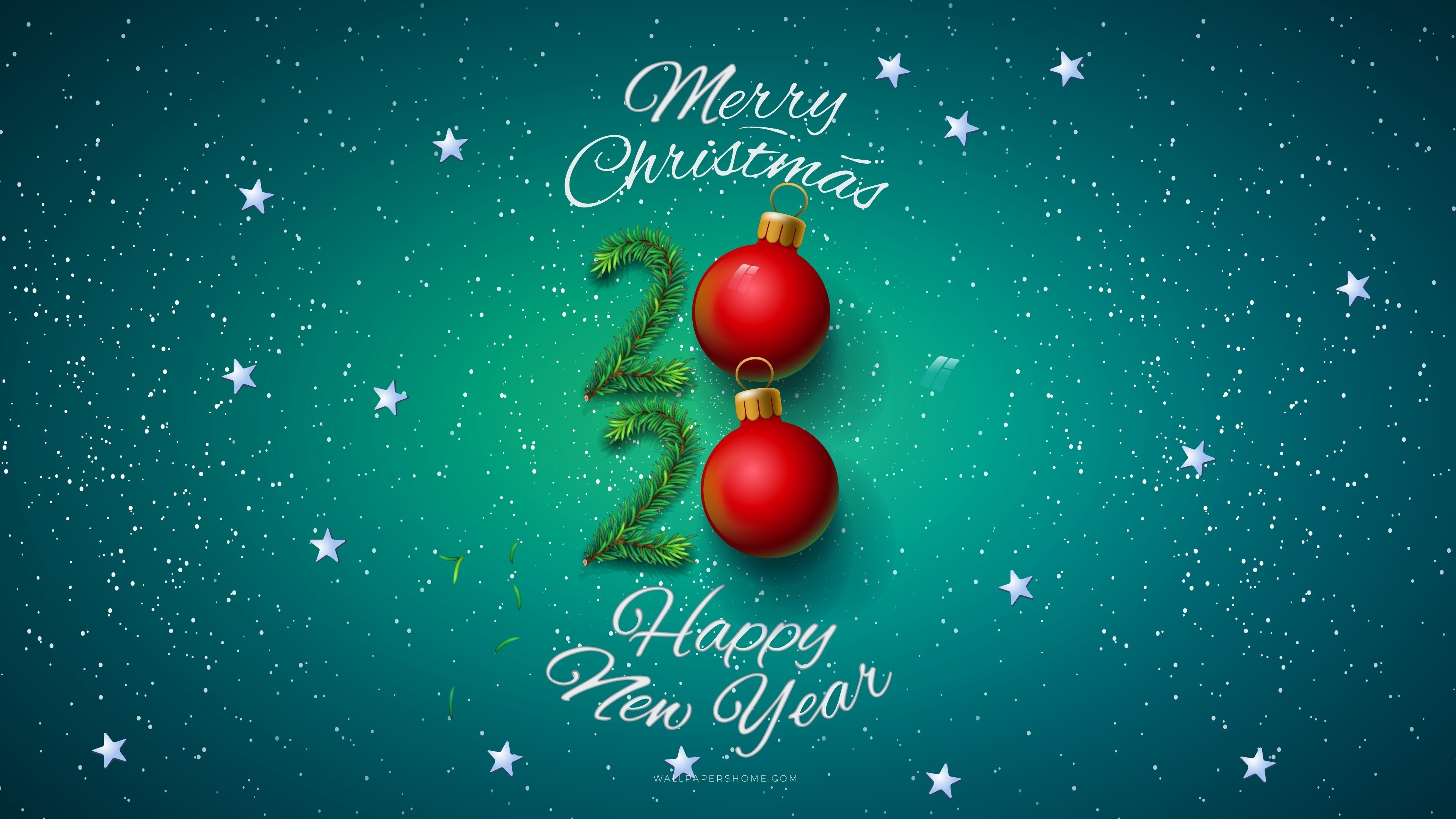 merry christmas with happy new year 2020 hd wallpapers merry christmas with happy new year