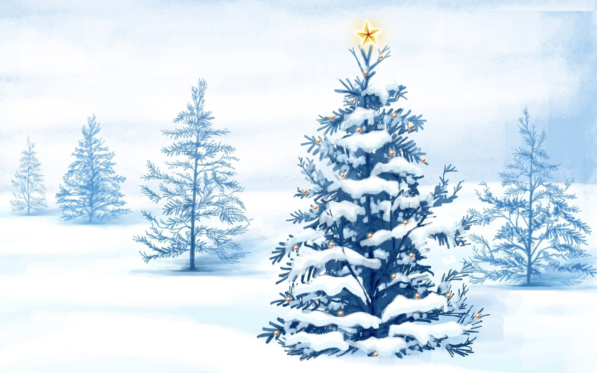 snowy christmas tree wallpapers | hd wallpapers