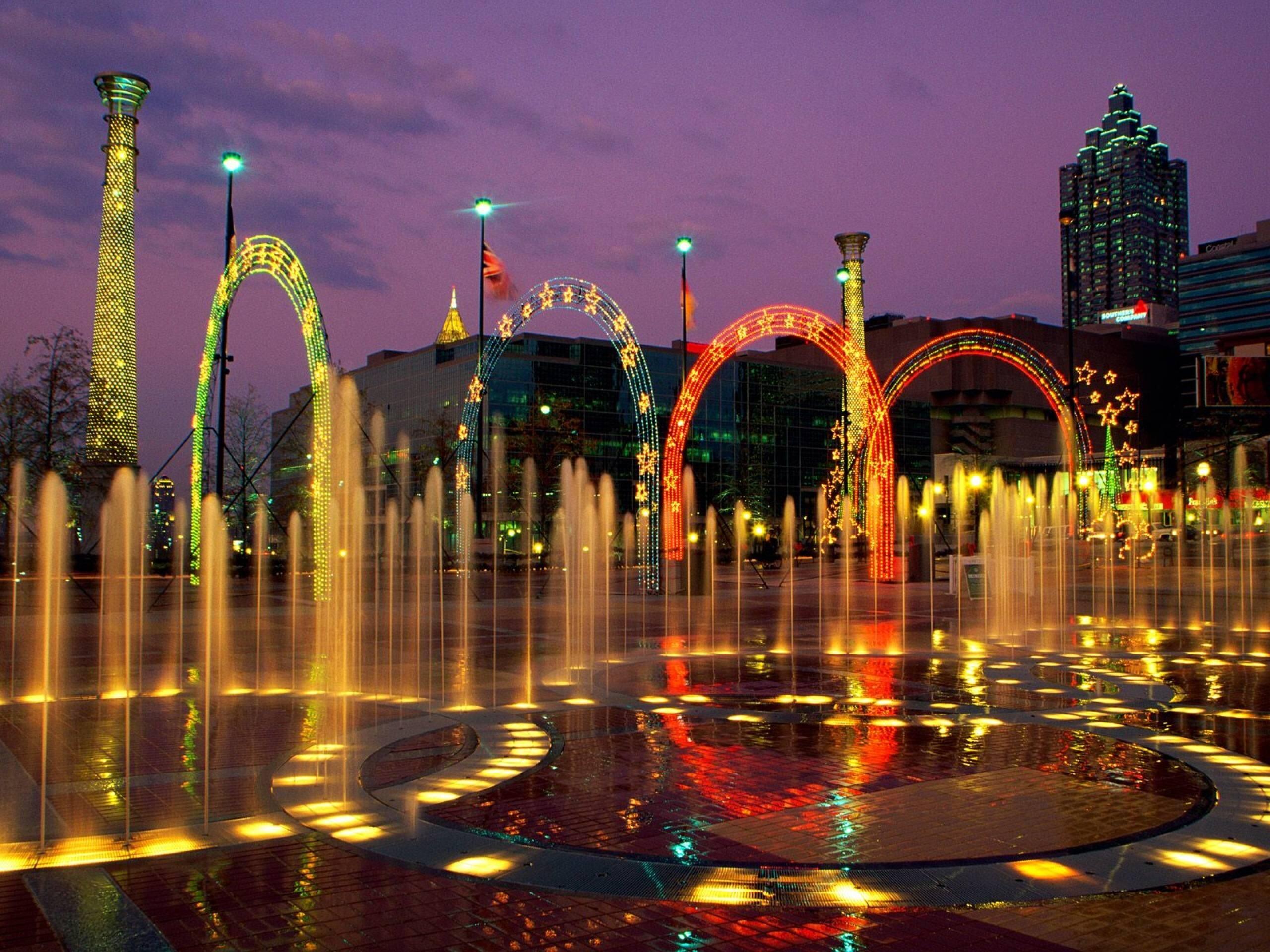 Amazing Fountain Of Centennial Olympic Park In City Georgia United - Is georgia in the united states
