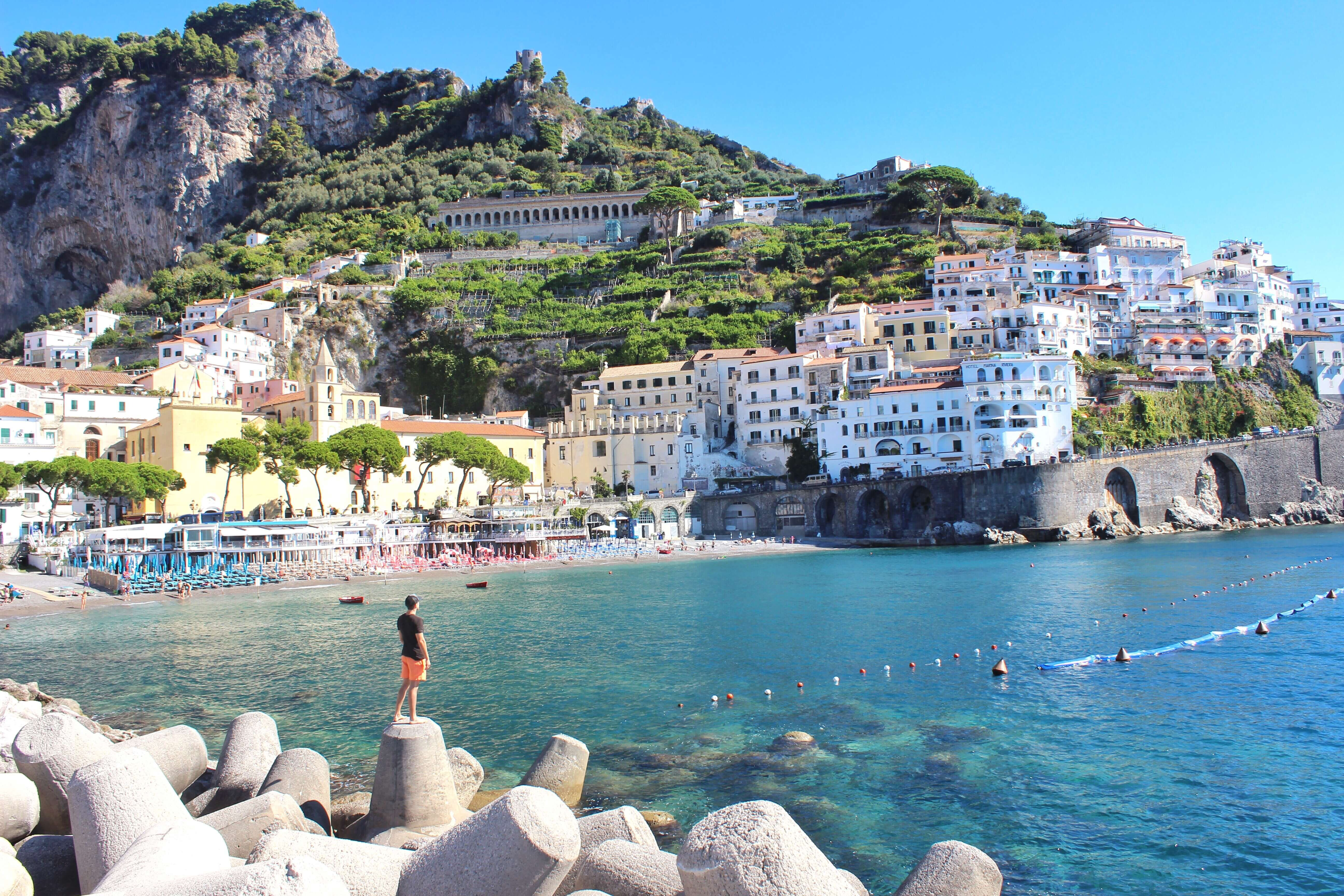 Beautiful Amalfi Coast Tourist Attraction In Italy Country
